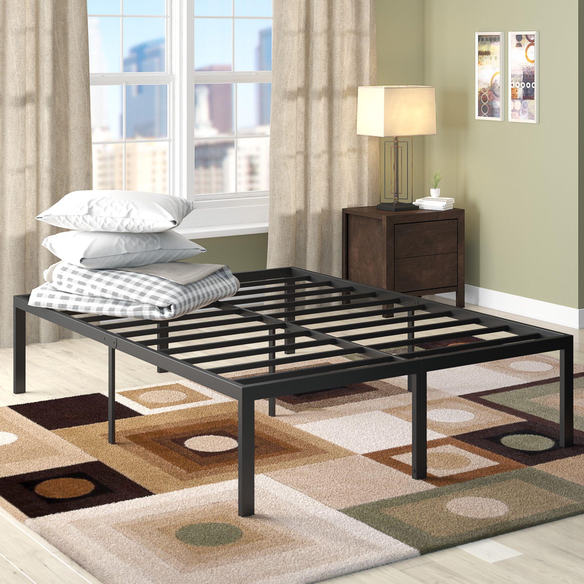 Yetter Steel Slat Bed Frame Size: California King