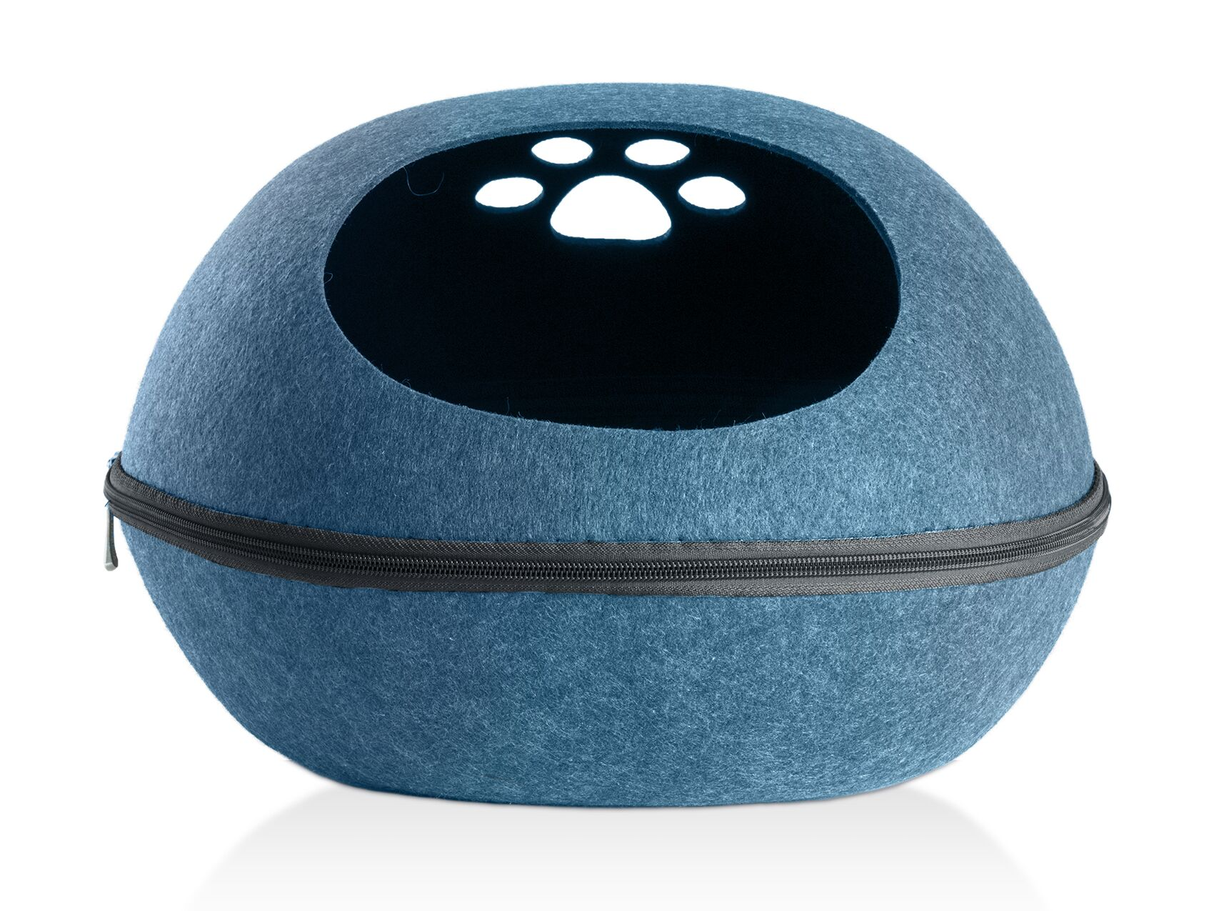 Gira Paw Oval Felt Dome Color: Blue