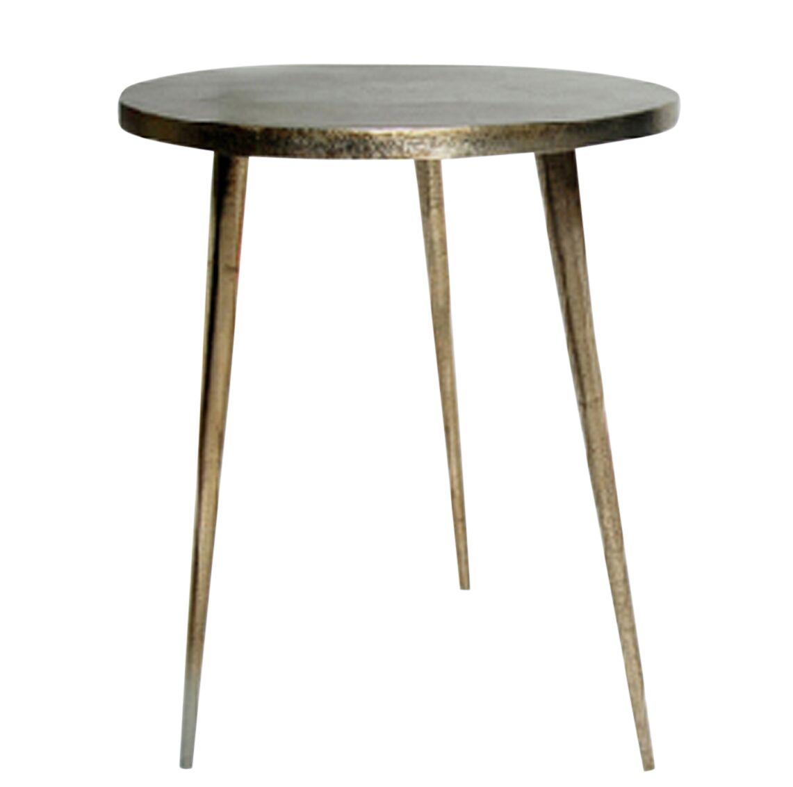 Candleick Cast Aluminum Tripod End Table Size: 22