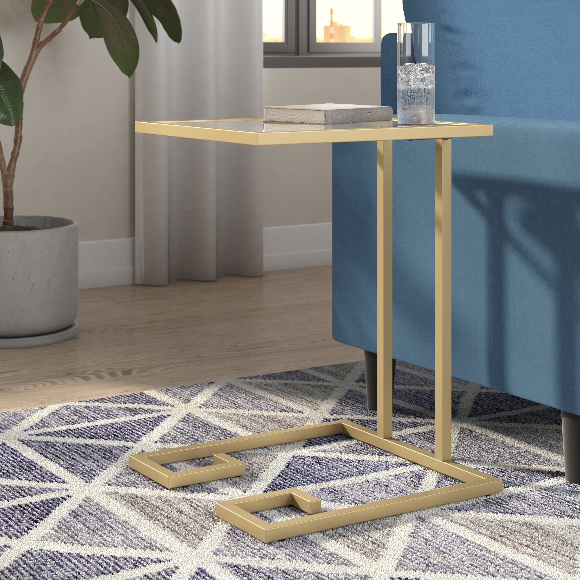 Panther End Table Color: Gold