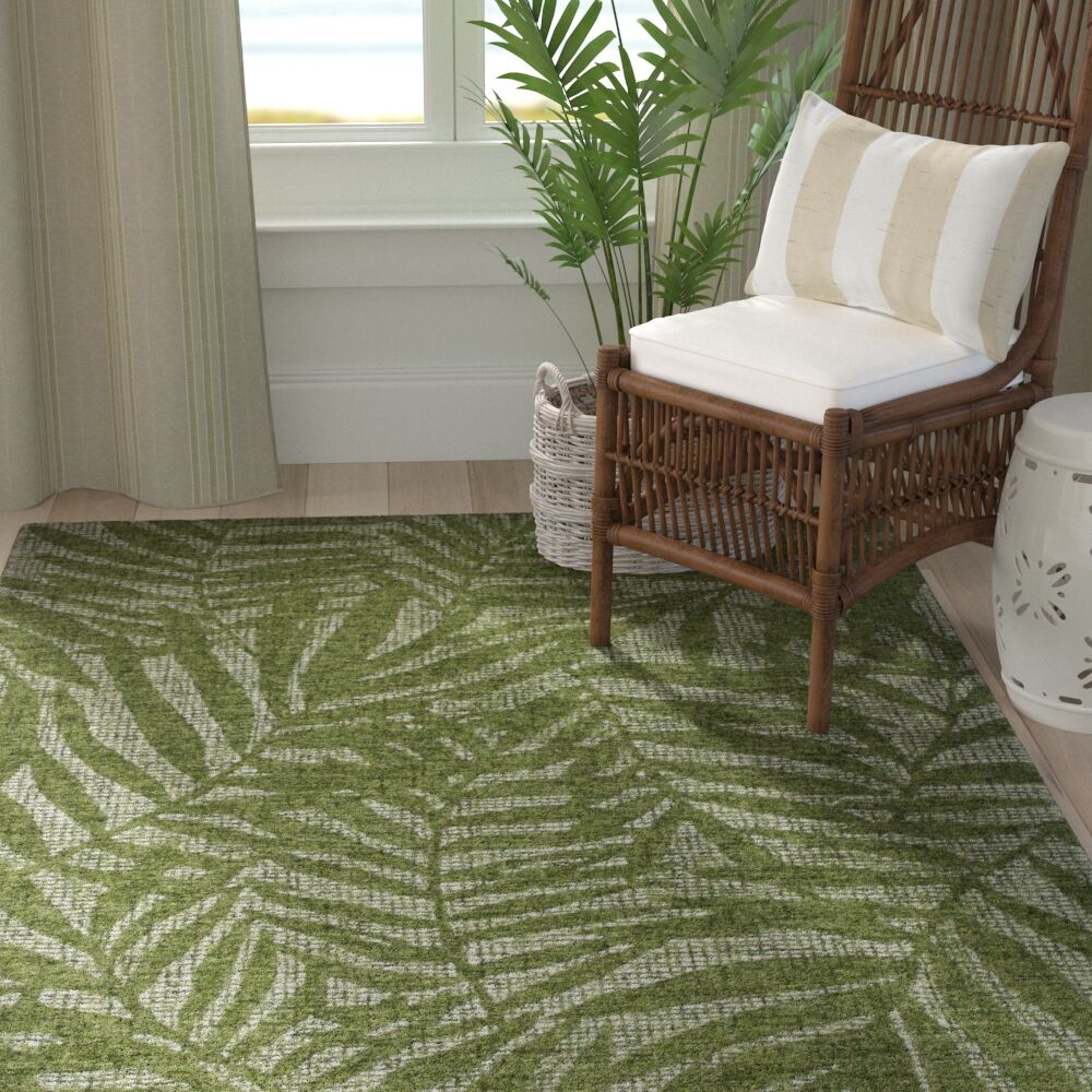 Claremont Olive Branches Hand-Woven Wool Green Area Rug Rug Size: Runner 2' x 7'5