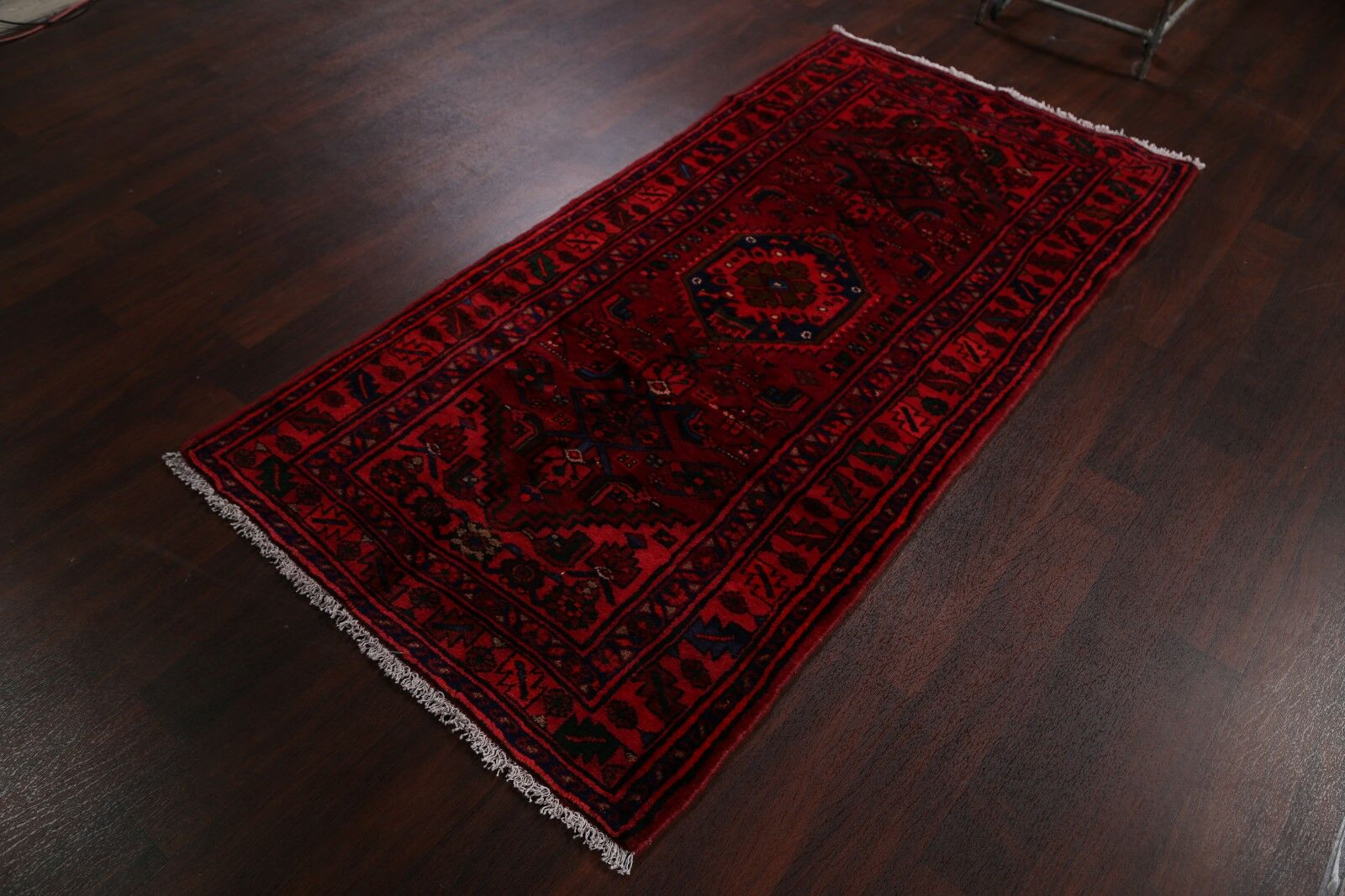 One-of-a-Kind Dunnell Traditional Hamedan Persian Hand-Knotted 3'6