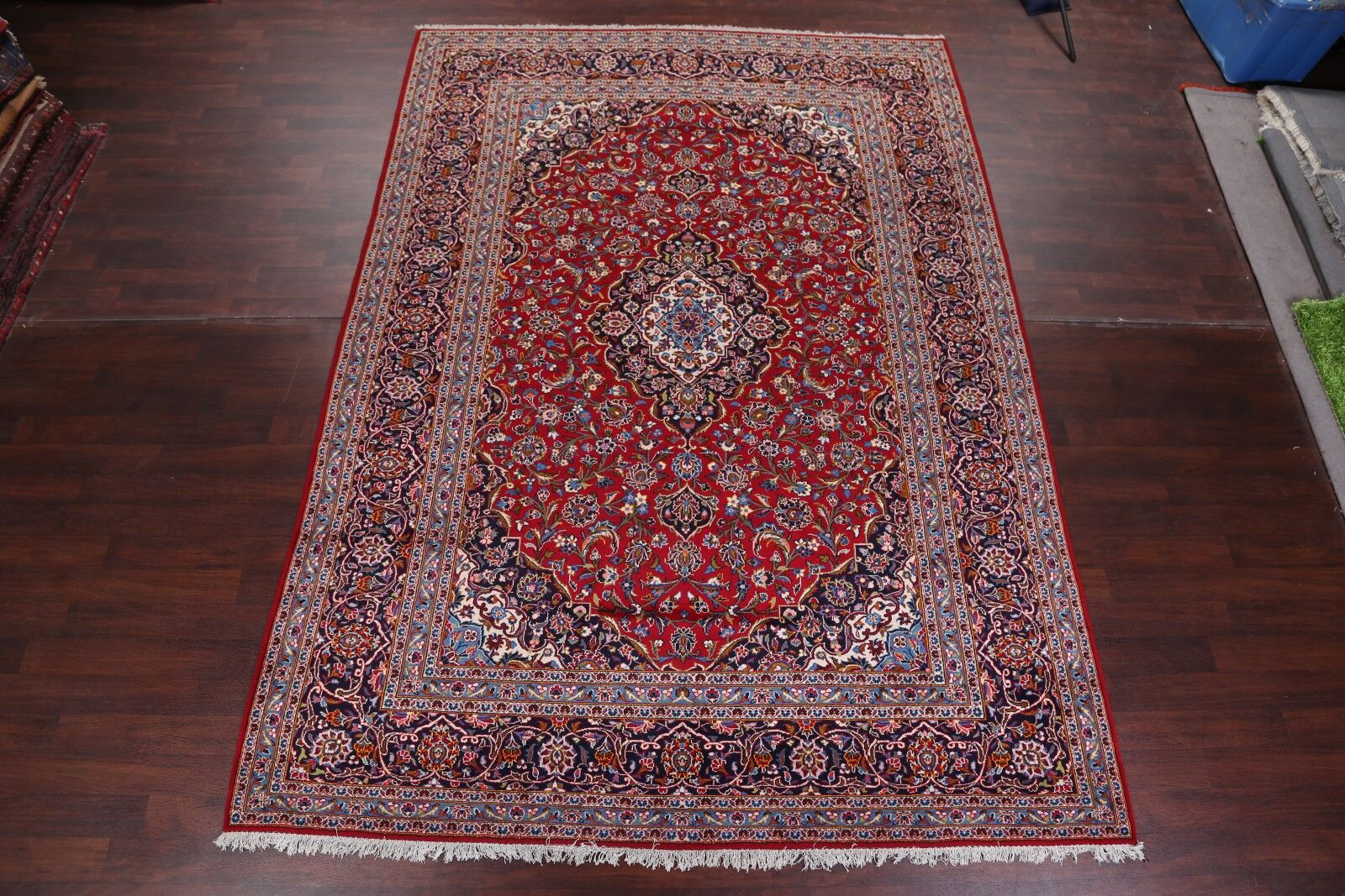 One-of-a-Kind Garnes Floral Kashan Persian Hand-Knotted 8'11