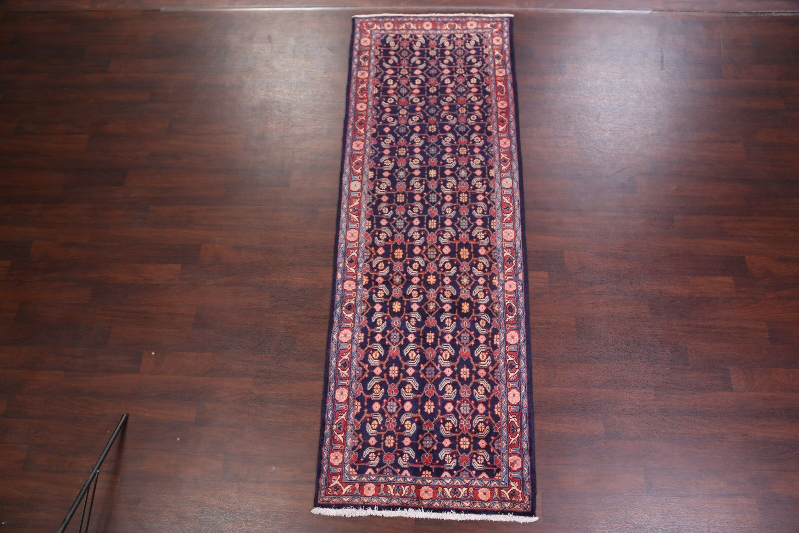One-of-a-Kind Traditional Floral Hamedan Persian Hand-Knotted 3'5