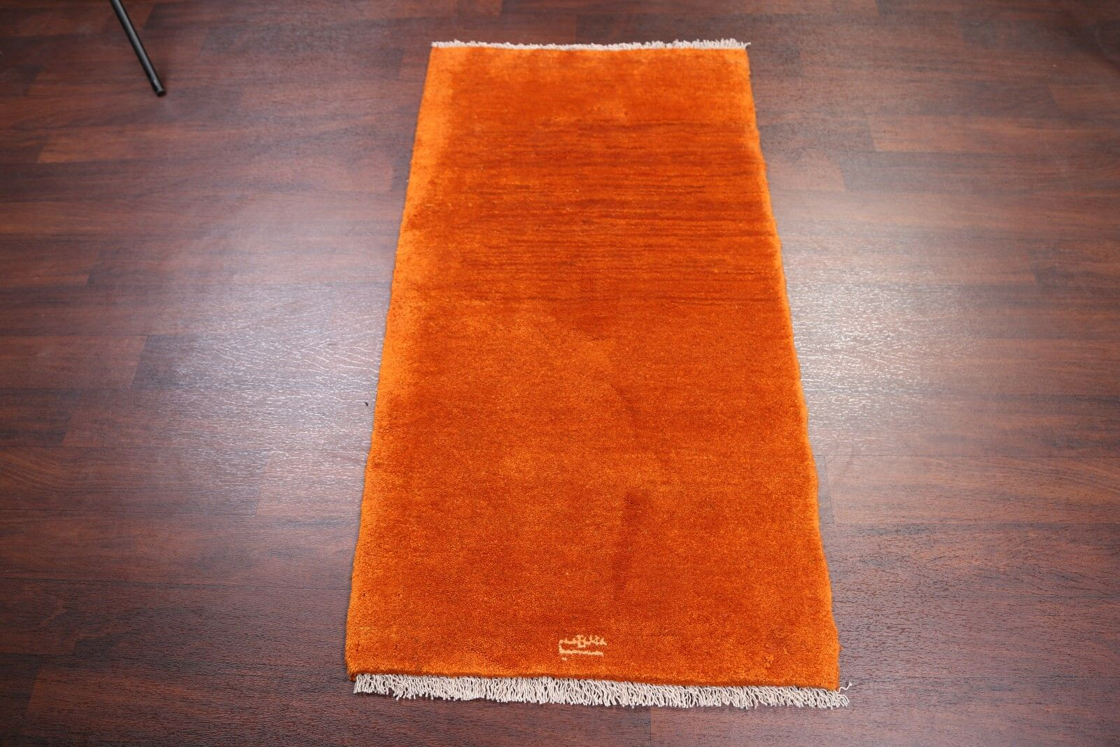 One-of-a-Kind Traditional Solid Modern Gabbeh Shiraz Persian Hand-Knotted 2'7