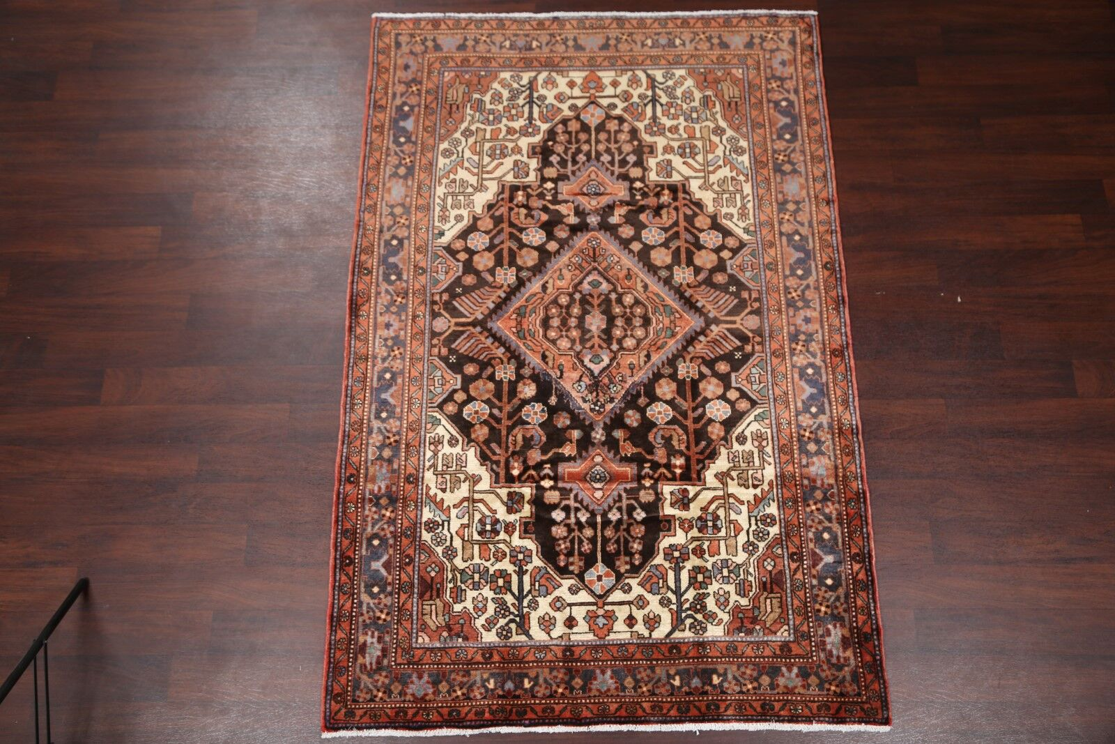 One-of-a-Kind Geometric Tribal Malayer Hamedan Vintage Persian Hand-Knotted 5'2