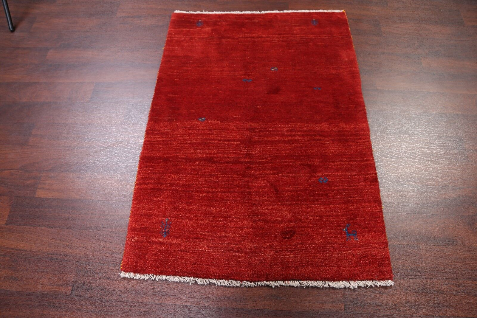 One-of-a-Kind Little Animal Tribal Nomad Gabbeh Shiraz Persian Hand-Knotted 3'3