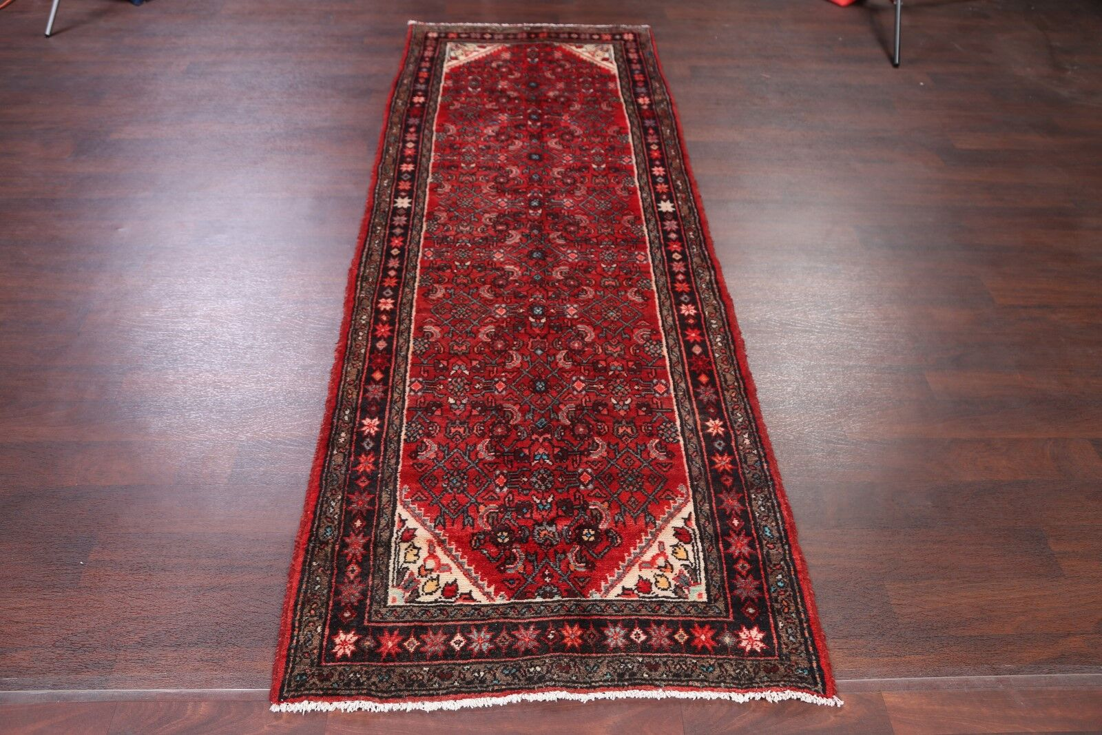 One-of-a-Kind Traditional All Over Floral Hamedan Persian Hand-Knotted 3'5
