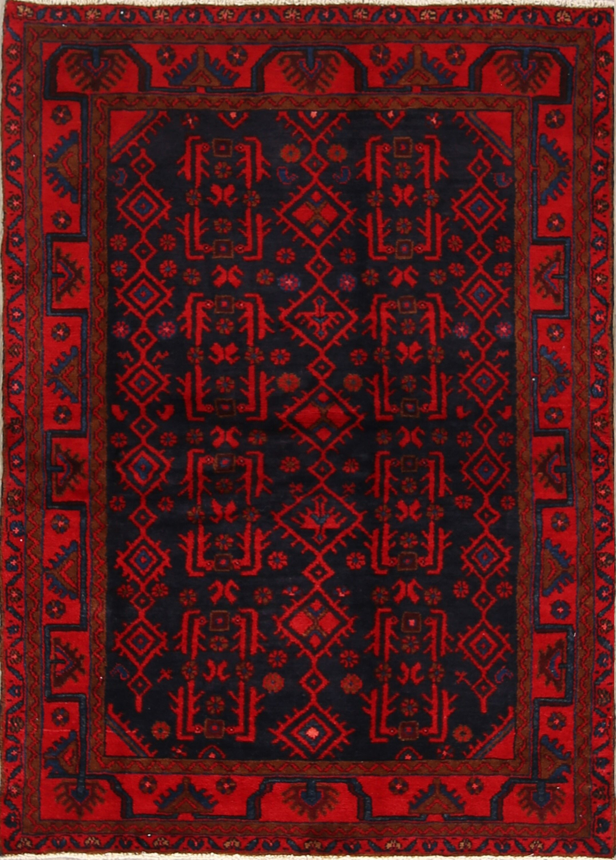 One-of-a-Kind Traditional All Over Nahavand Hamedan Persian Hand-Knotted 3'11