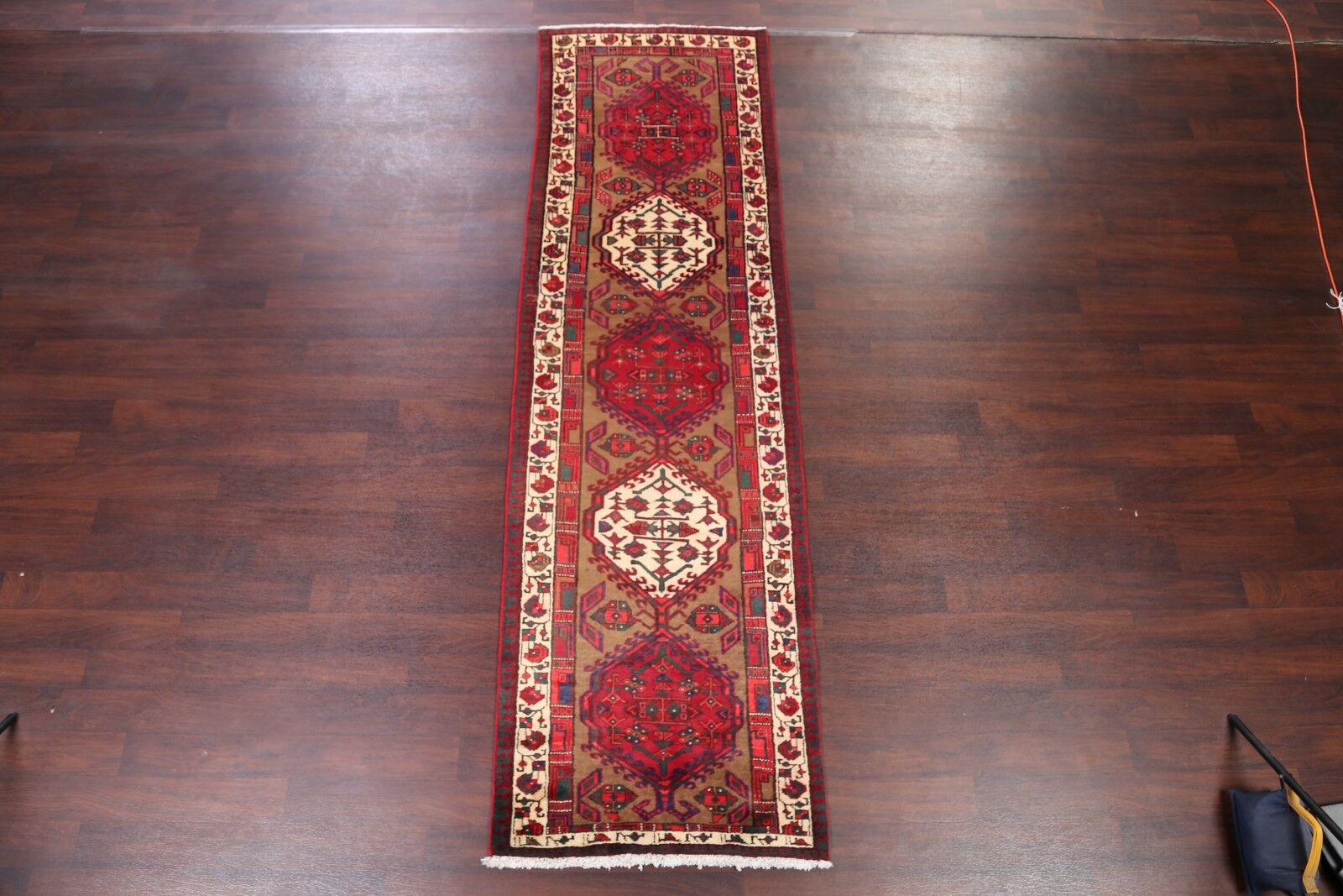 One-of-a-Kind Geometric Tribal Ardebil Persian Hand-Knotted 3'2