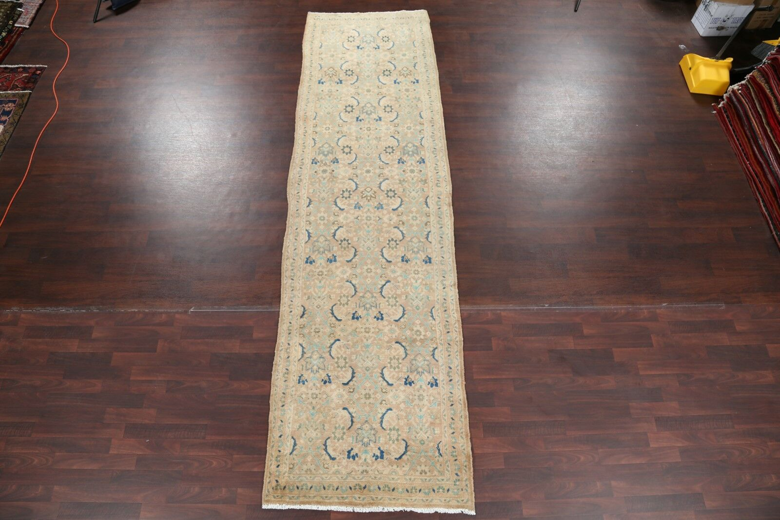 One-of-a-Kind Floral Sultanabad Sarouk Palace Vintage Persian Hand-Knotted 3'8