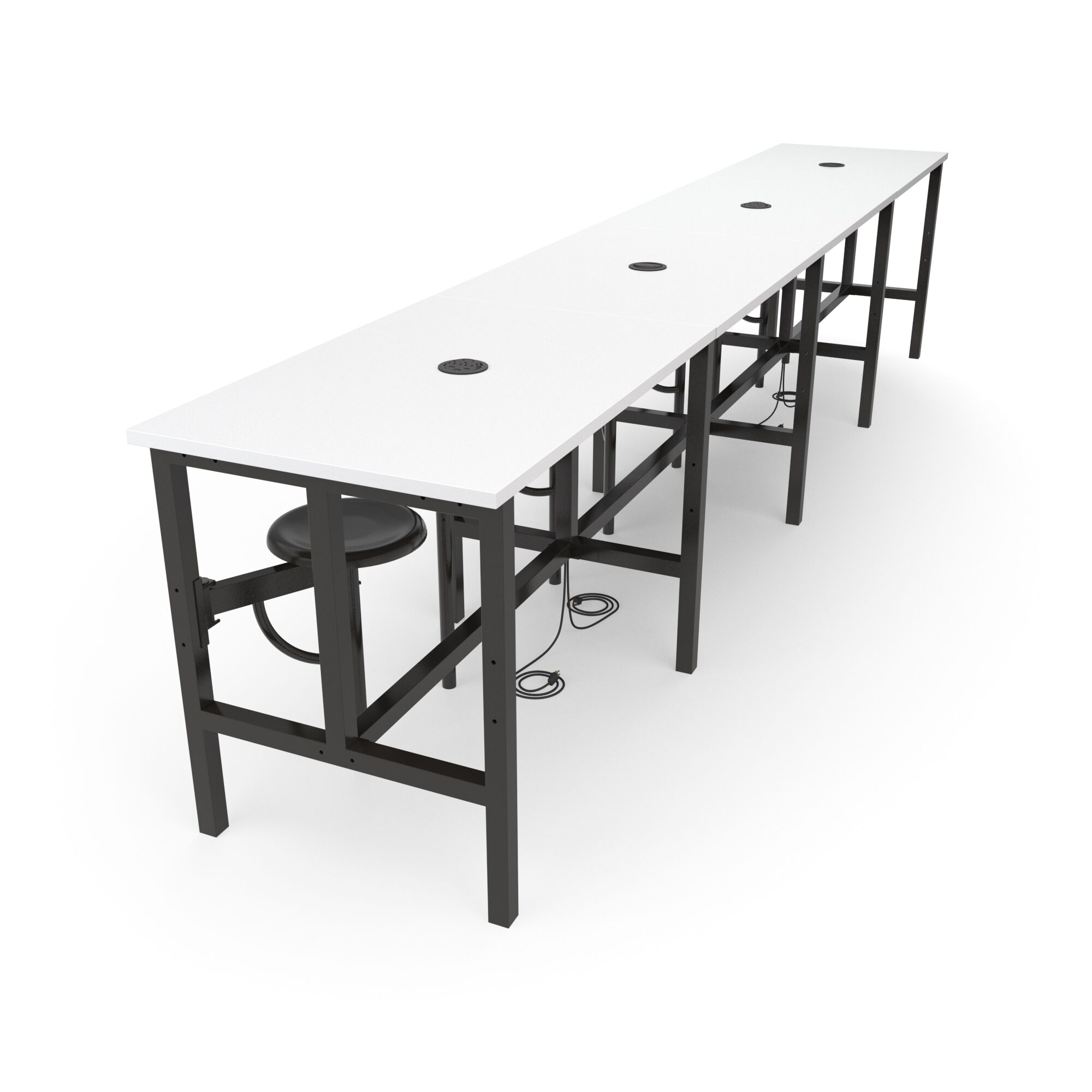 Malaki Rectangular Conference Table Top Finish: White, Base Finish: Dark Vein, Size: 38