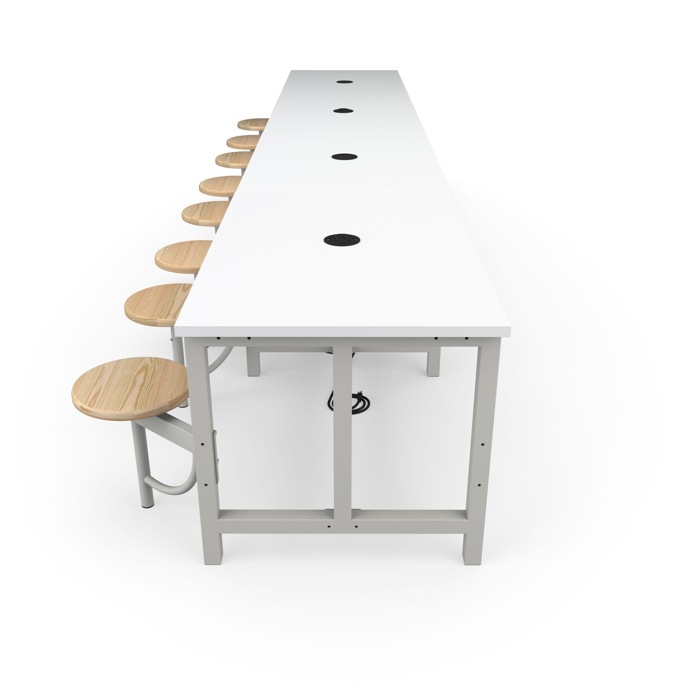 Malaki Rectangular Conference Table Top Finish: White, Base Finish: Maple, Size: 29.5