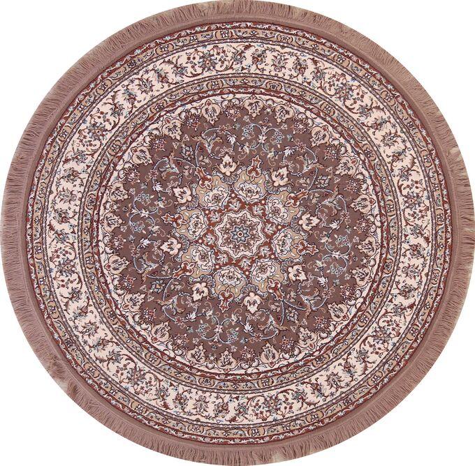 Classical Soft Plush Floral Tabriz Geometric Persian Brown Area Rug