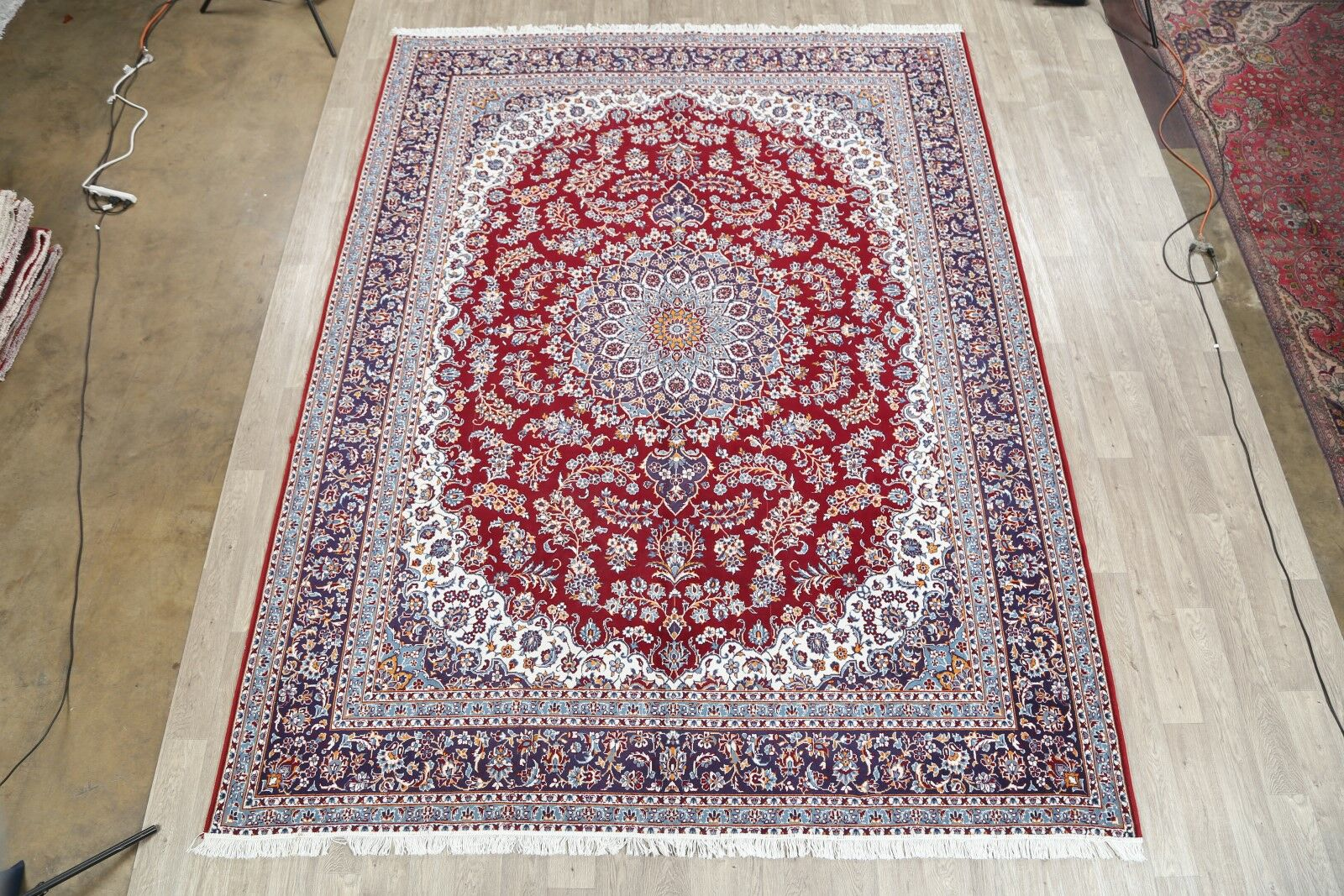 Traditional Soft Plush Floral Classical Kashan Persian Red/Purple Area Rug