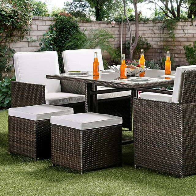 Giles 9 Piece Rattan Dining Set with Cushions