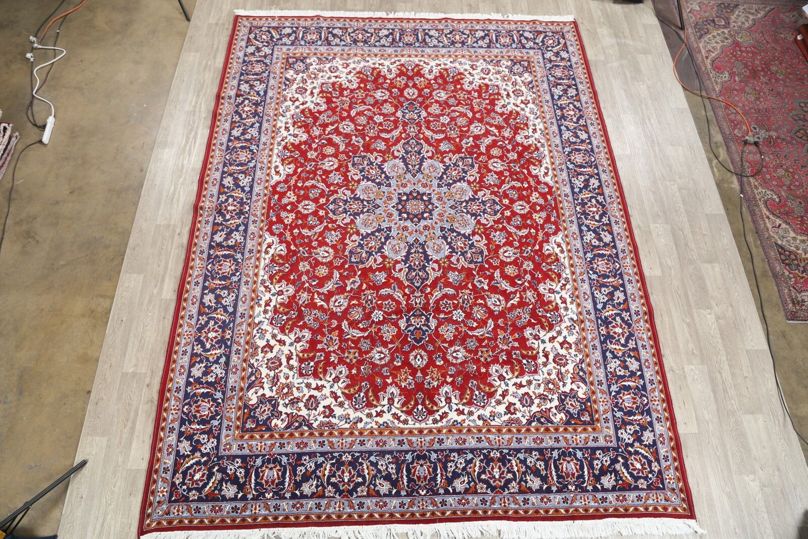 Soft Plush Najafabad Persian Red/Blue/Beige Area Rug
