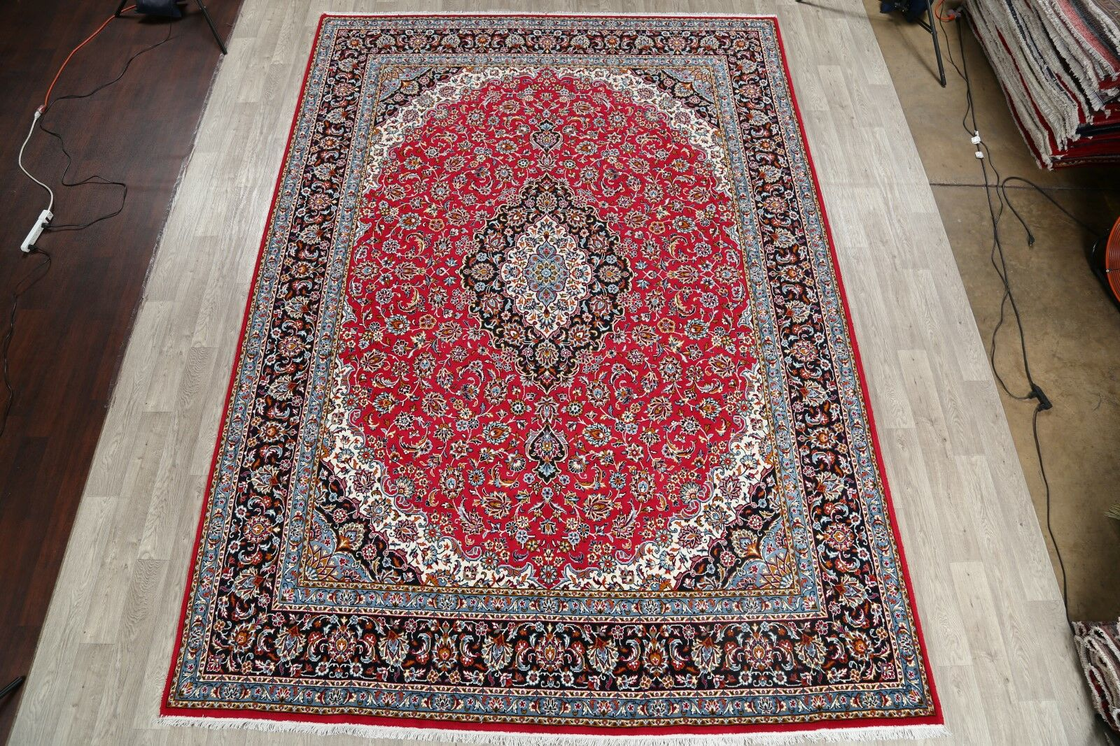 Eliason Soft Plush Floral Kashmar Persian Red/Beige/Black Area Rug