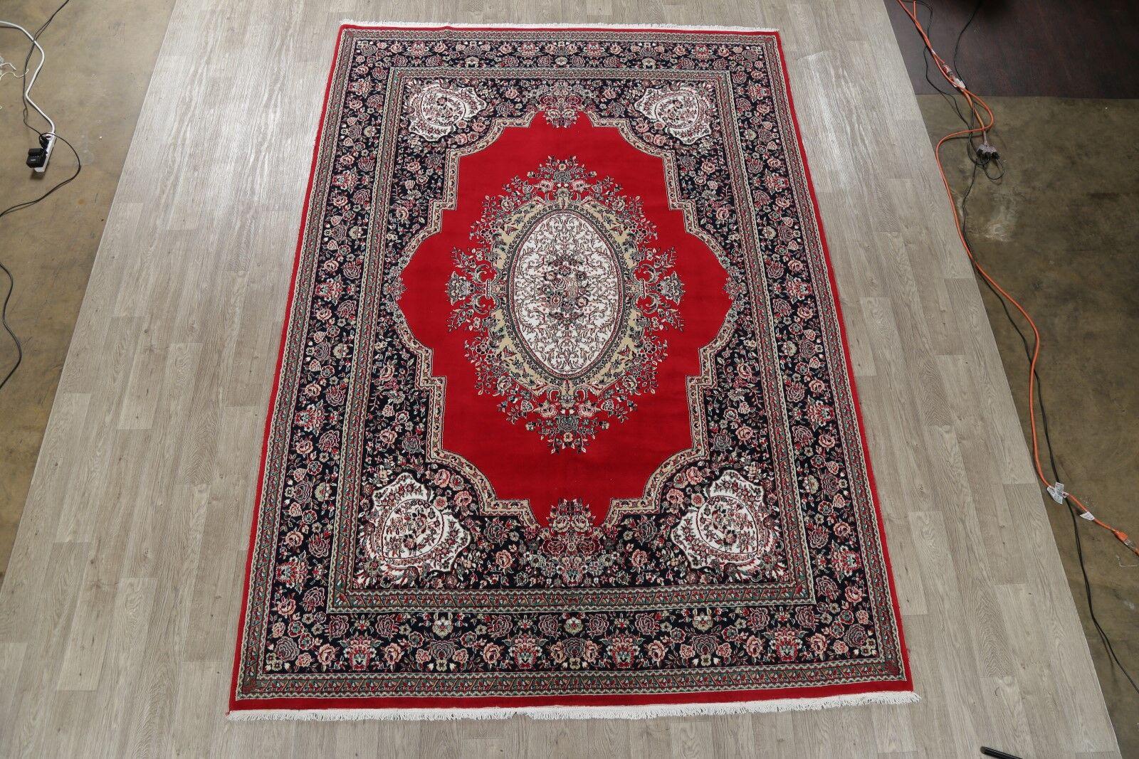Soft Plush Floral Tabriz Persian Black/Red Area Rug