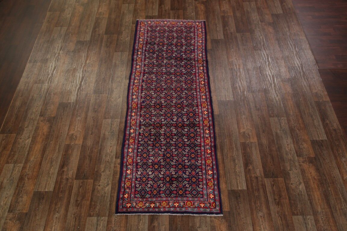 One-of-a-Kind Floral Mahal Persian Hand-Knotted 3'6