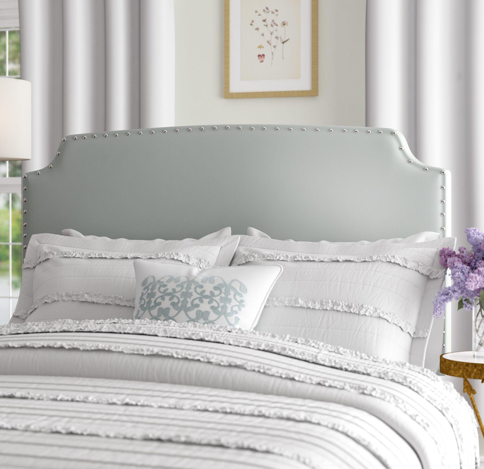 Almeida Upholstered Panel Headboard Size: Queen/Full, Upholstery: Dusty Aqua