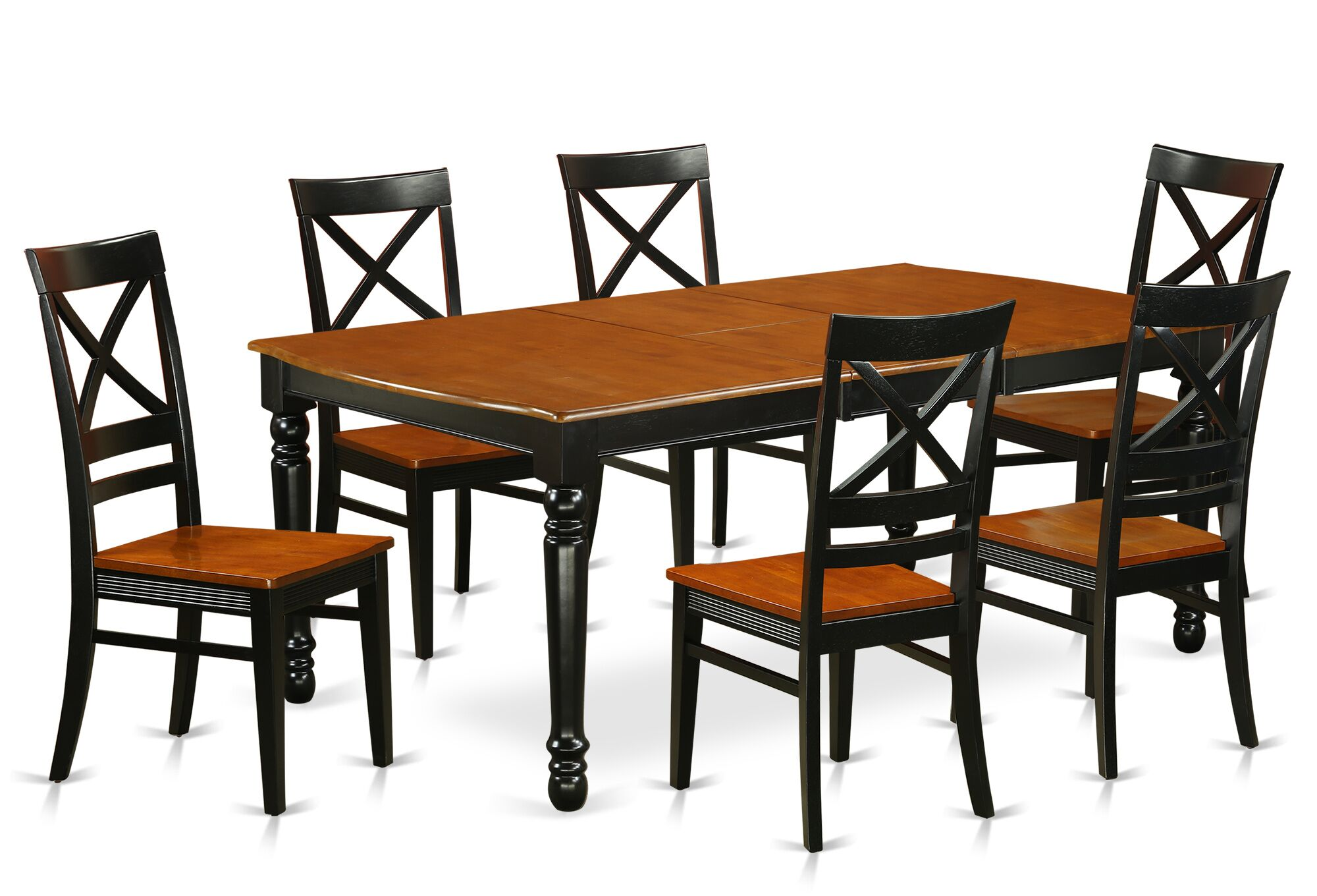 Pimentel 7 Piece Solid Wood Dining Set