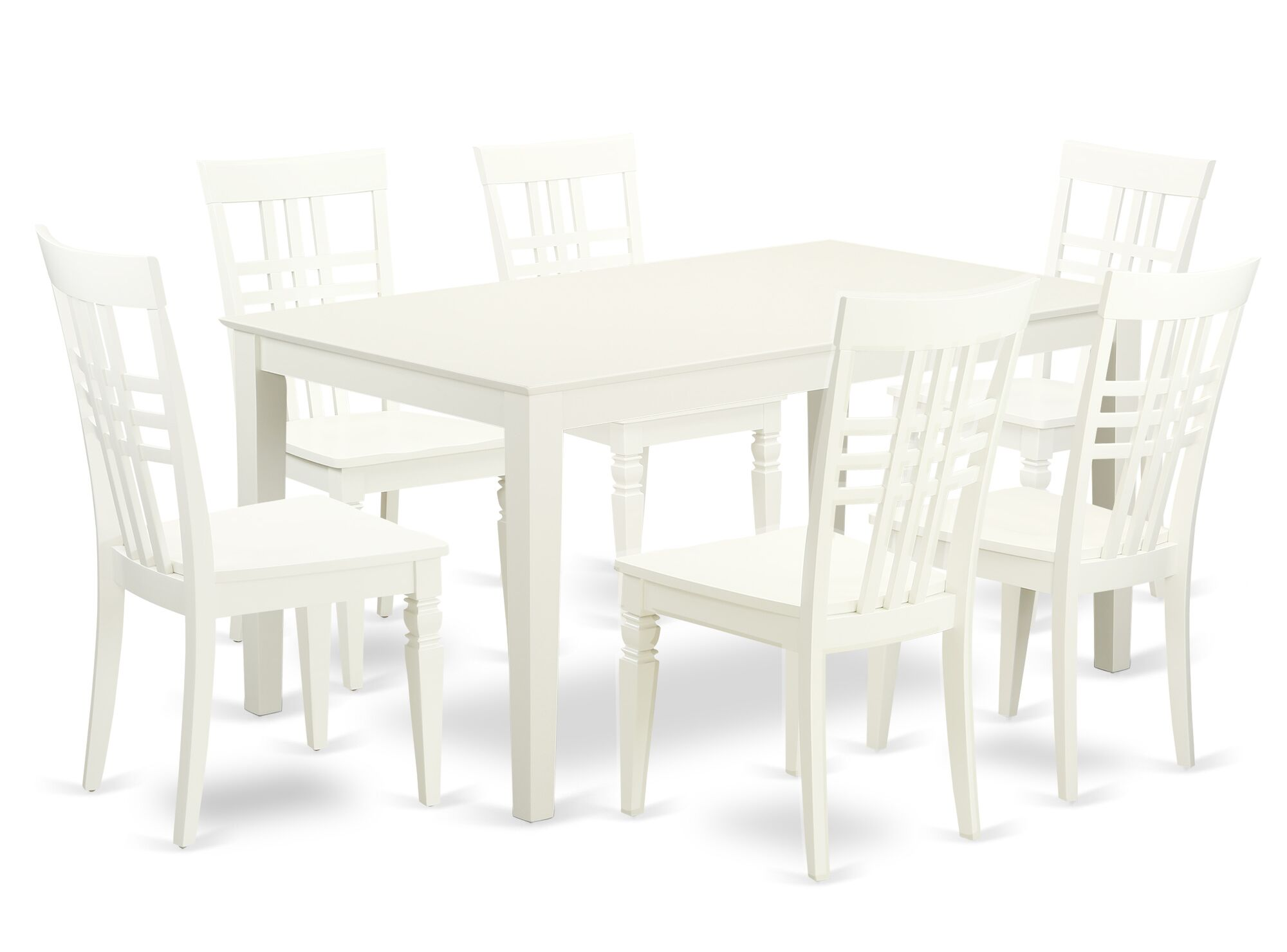 Smyrna 7 Piece Solid Wood Dining Set