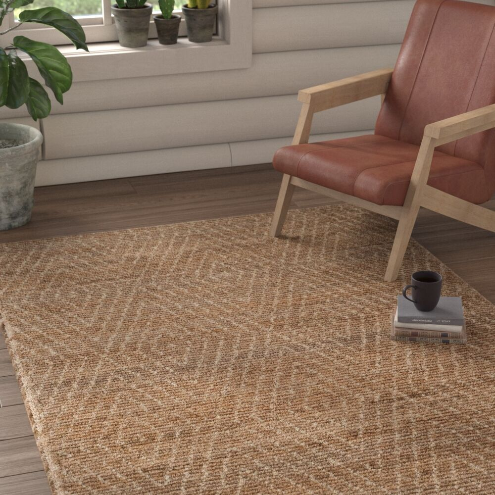 Pace Hand-Woven Natural/Ivory Area Rug Rug Size: Rectangle 3' x 5'