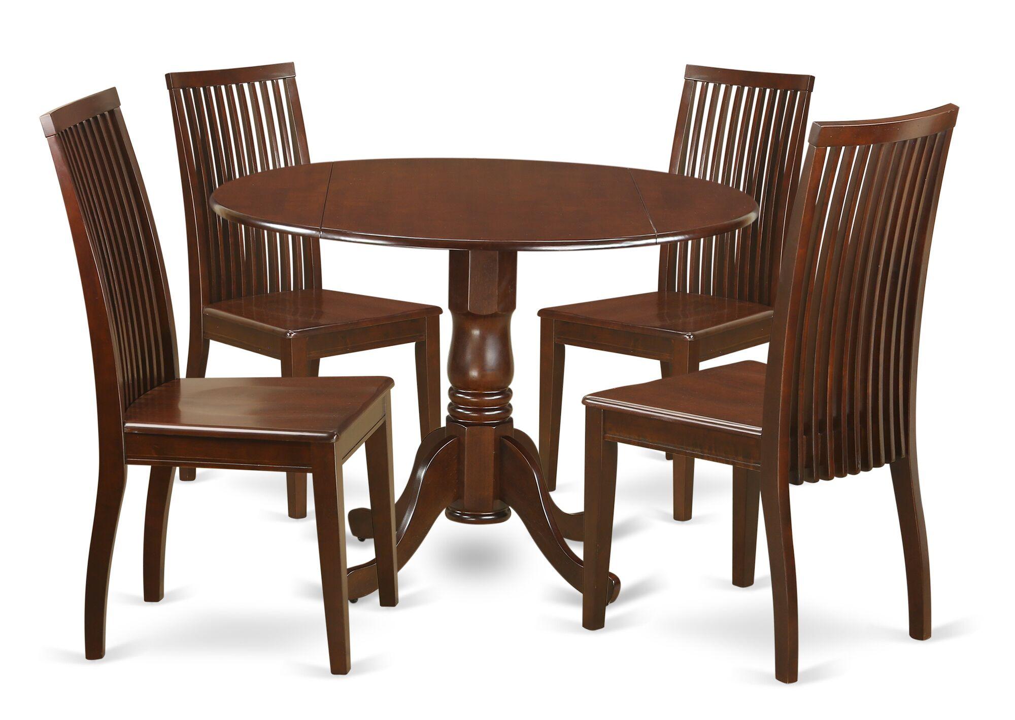 Dining Table Sets Gloucester 5 Piece Drop Leaf Breakfast Nook Solid Wood Set