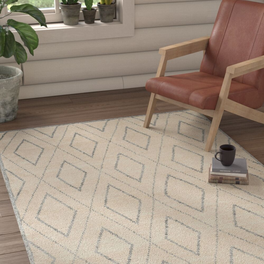 Watkins Hand-Knotted Beige/Gray Area Rug Rug Size: Rectangle 8' x 10'