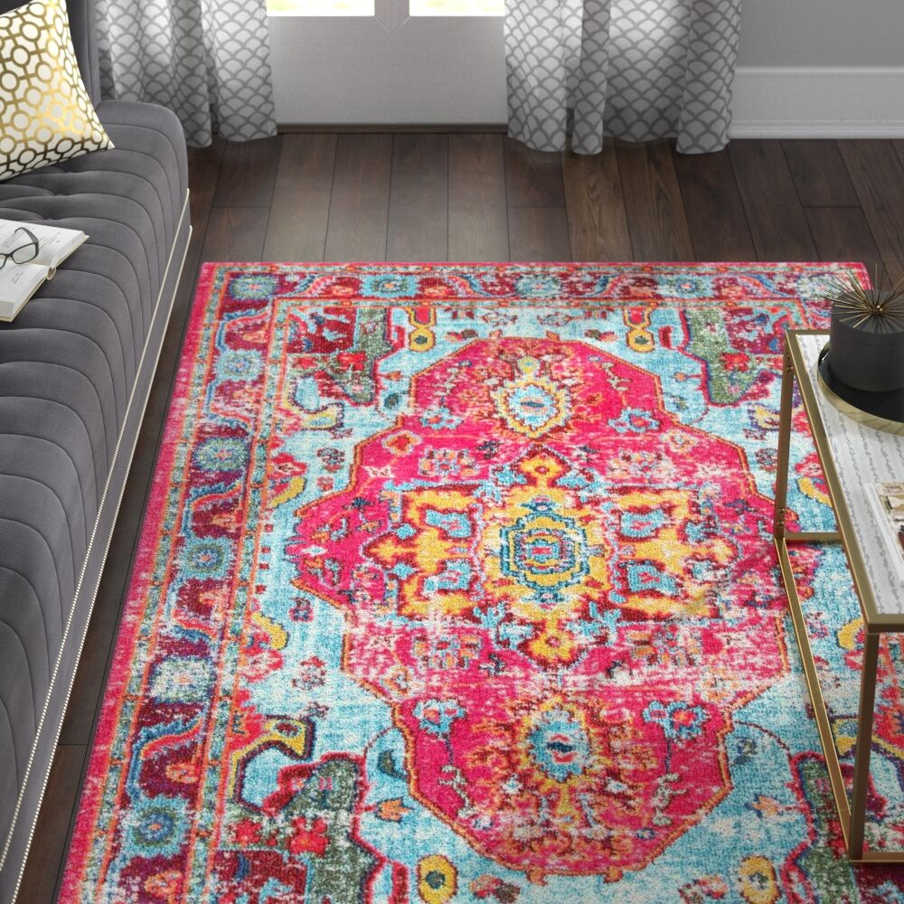 Aliyah Pink Area Rug Rug Size: Rectangle 9' x 12'