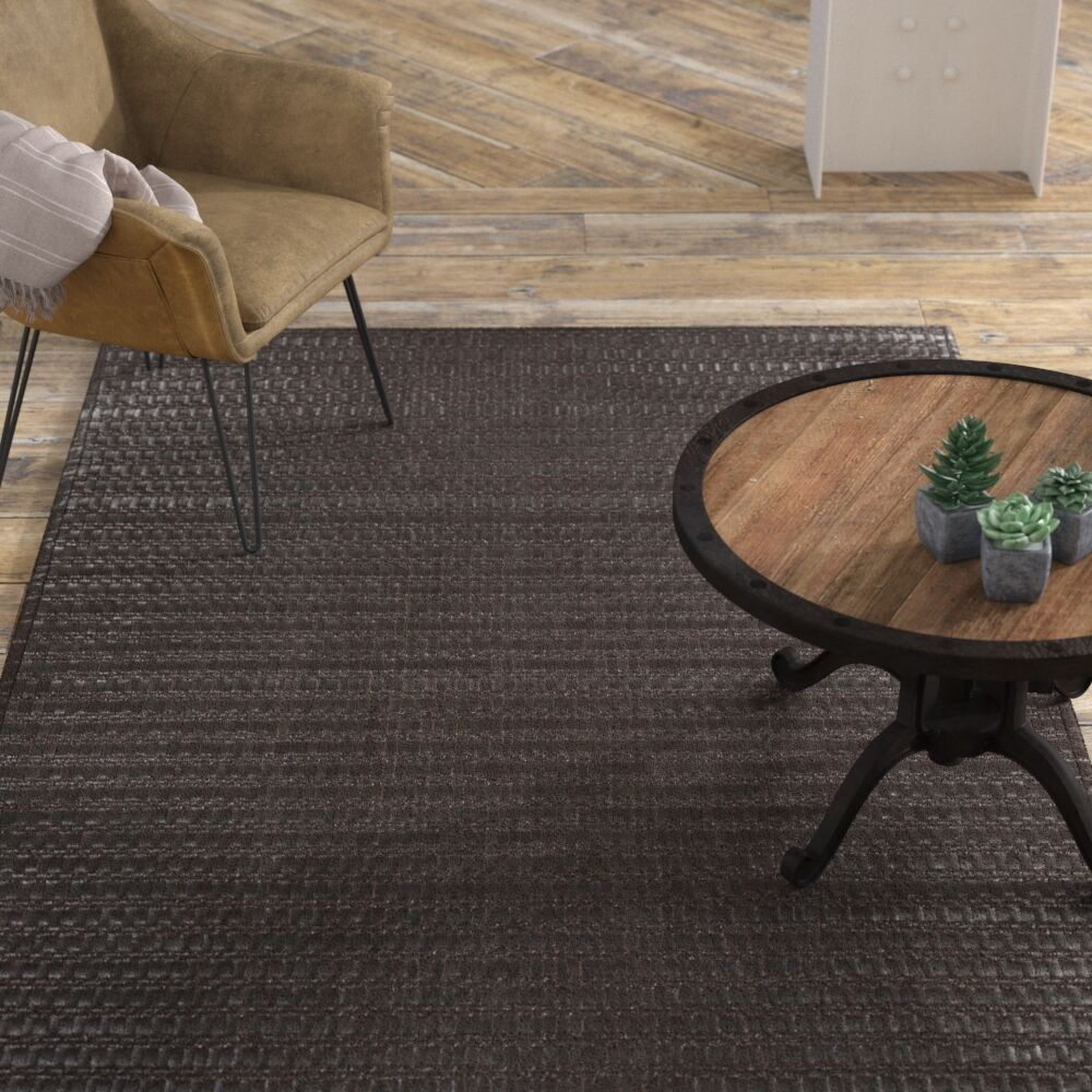 Letizia Grey Area Rug Rug Size: Rectangle 8' x 10'