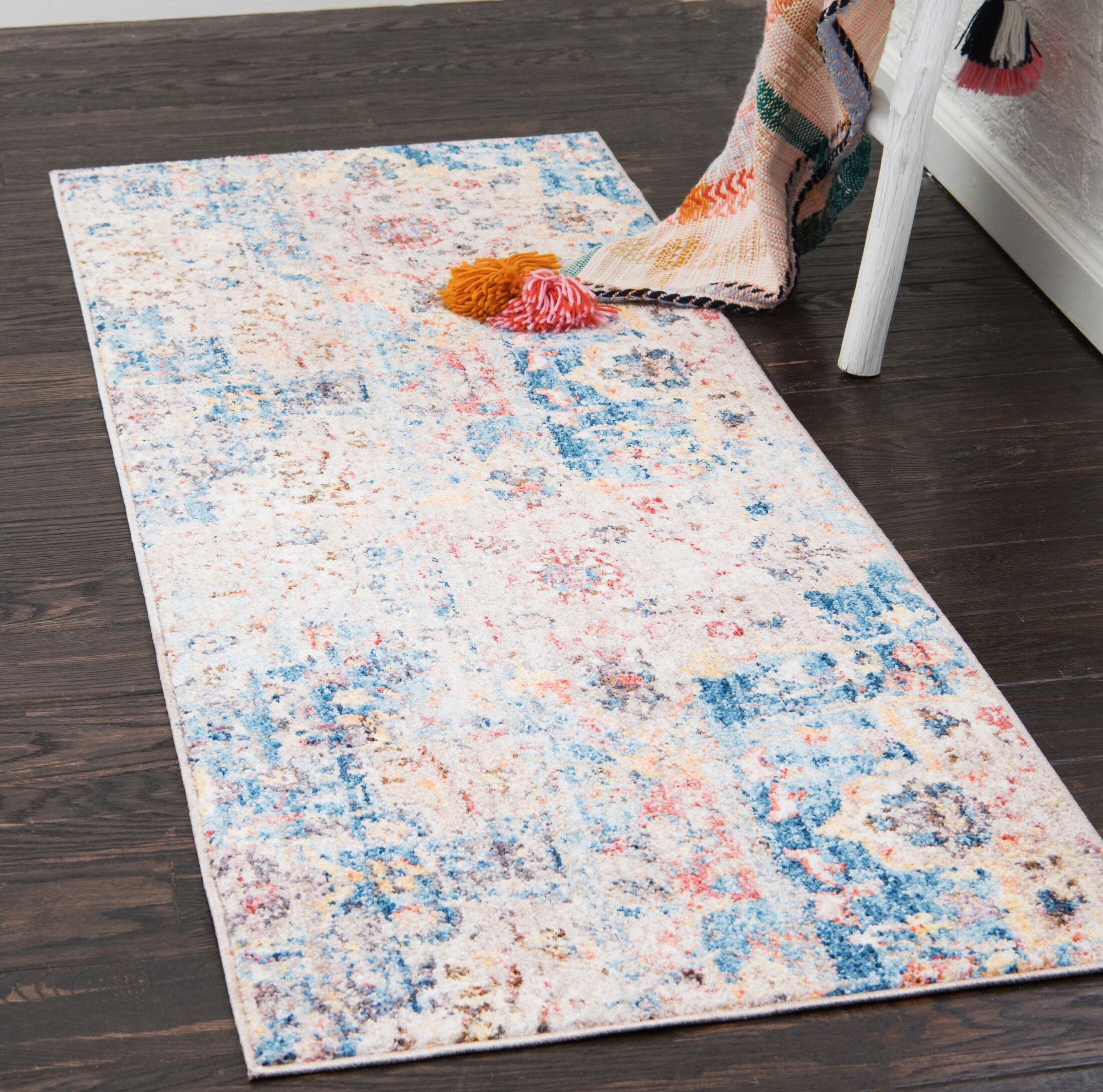 Bearden Blue Area Rug Rug Size: Runner 2'2
