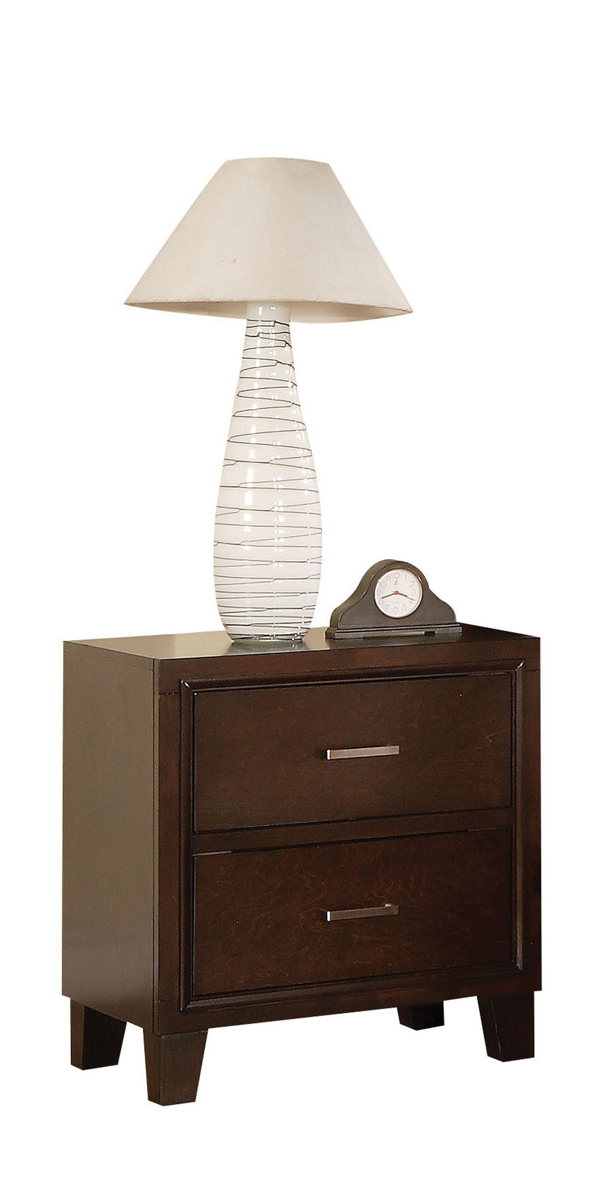 Heckman Contemporary Wooden 2 Drawer Nightstand