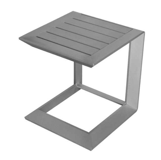Bladon Sleekly Cultivated Aluminum Side Table Color: Silver