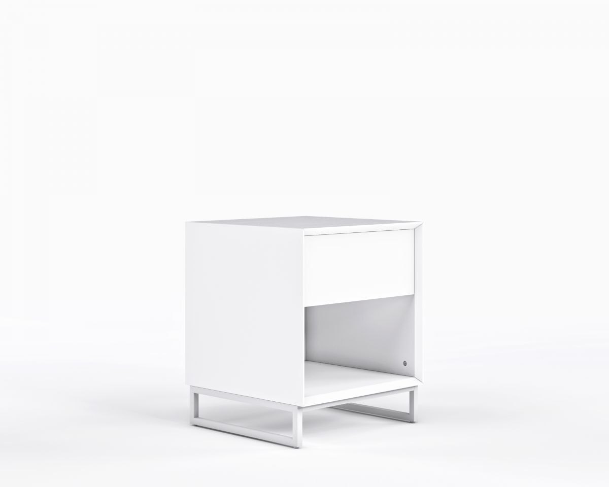 Boucher 1 Drawer Nightstand Color: White Ash