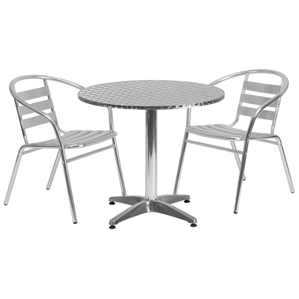 Casper Round Indoor Outdoor 3 Piece Bar Height Dining Set Table Size: 27.5