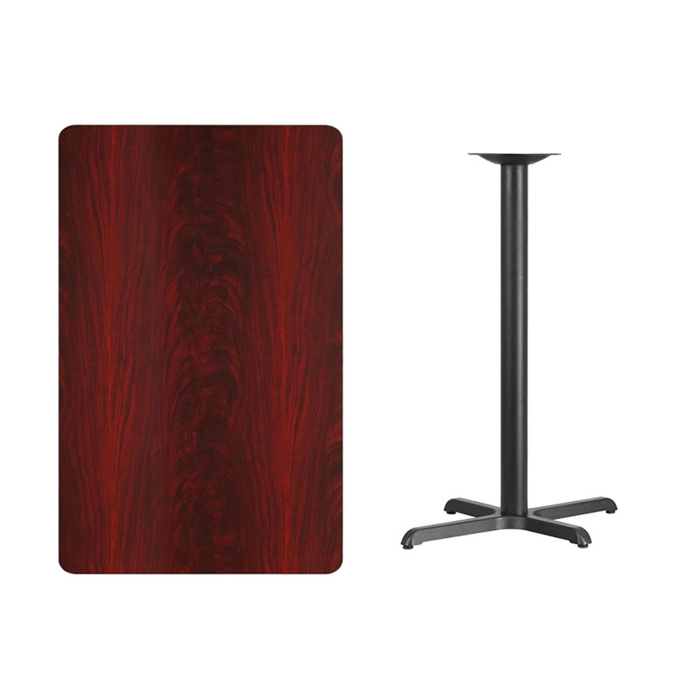 Maysonet Rectangular 2 Piece Pub Table Set Color: Mahogany, Tabletop Size: 43.12