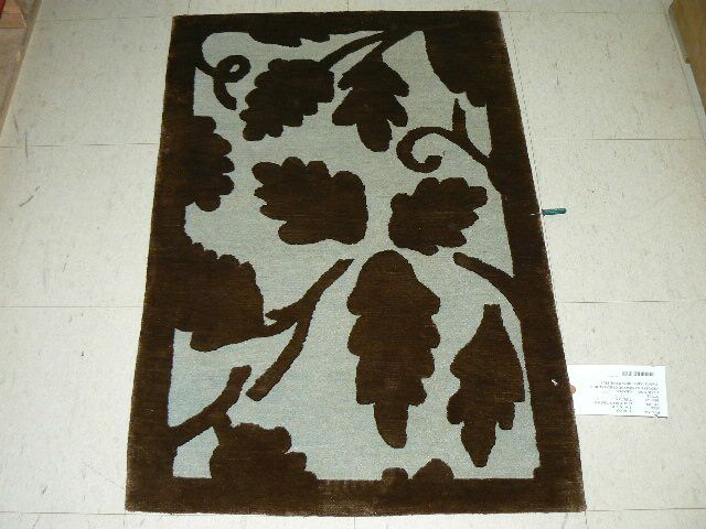 Mcclay Tibetan Hand-Knotted Light Blue/Brown Area Rug