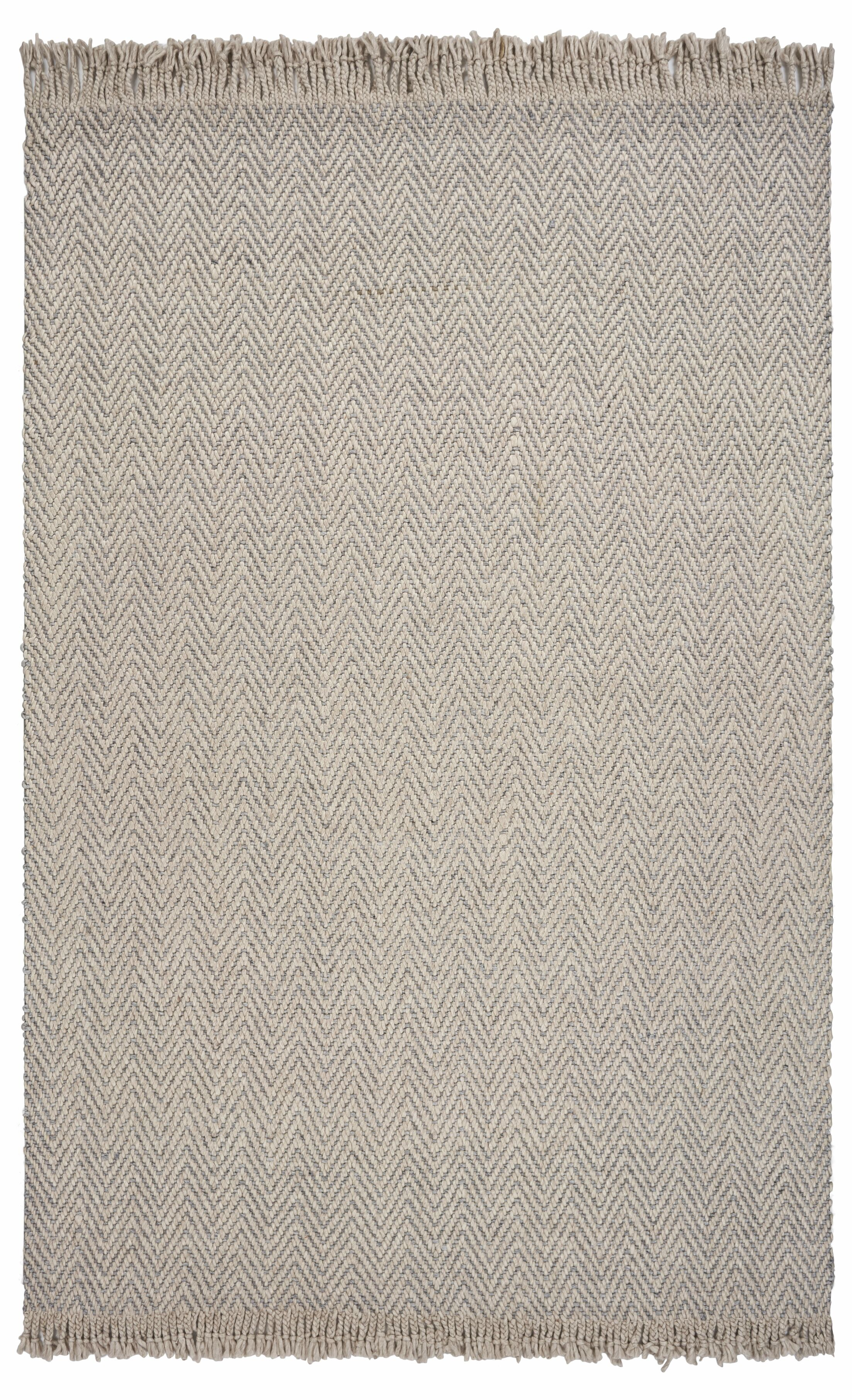Hogan Herringbone Hand-Woven Wool Oatmeal Area Rug Rug Size: Rectangle 8'6