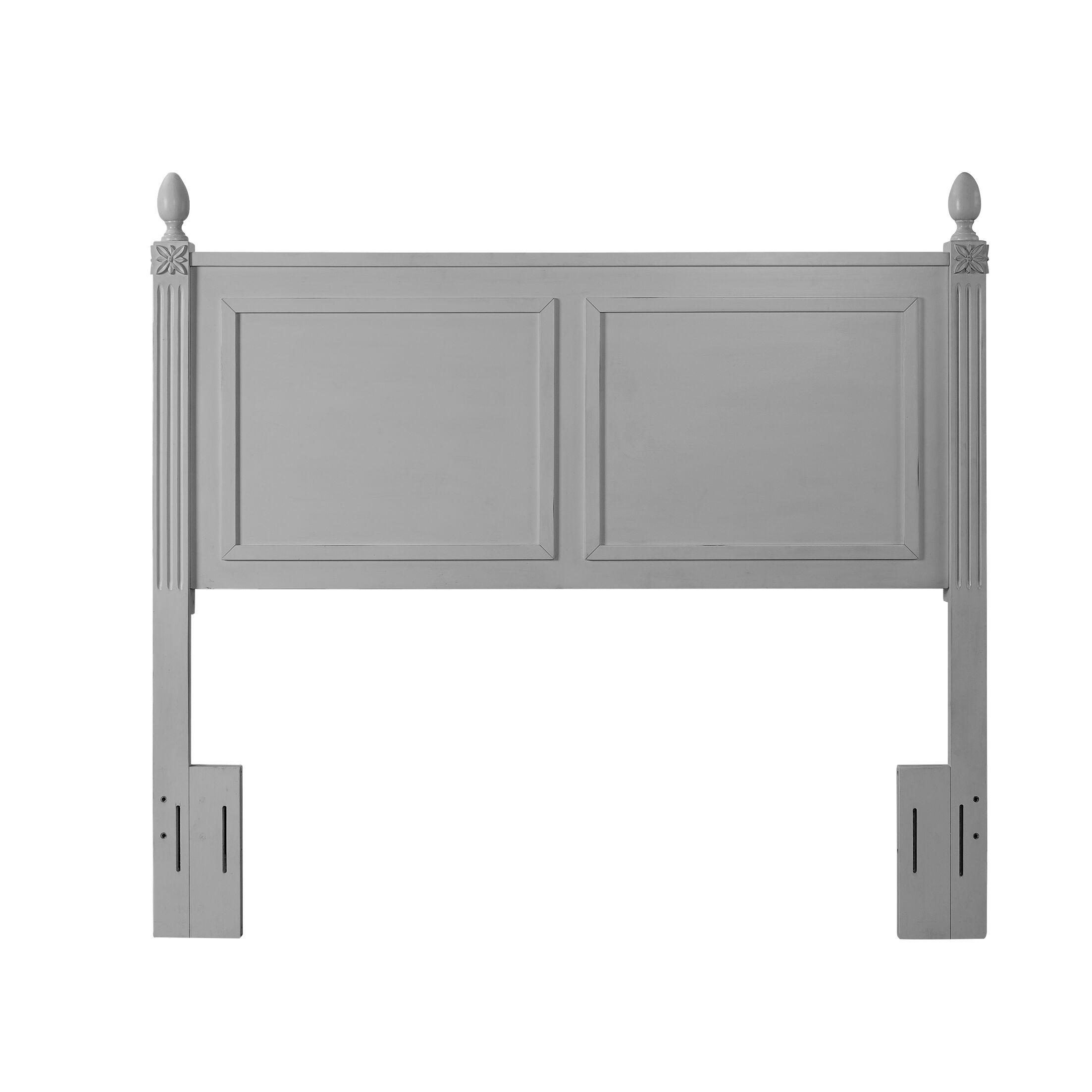 Jackeline Panel Headboard Color: Gray, Size: Queen