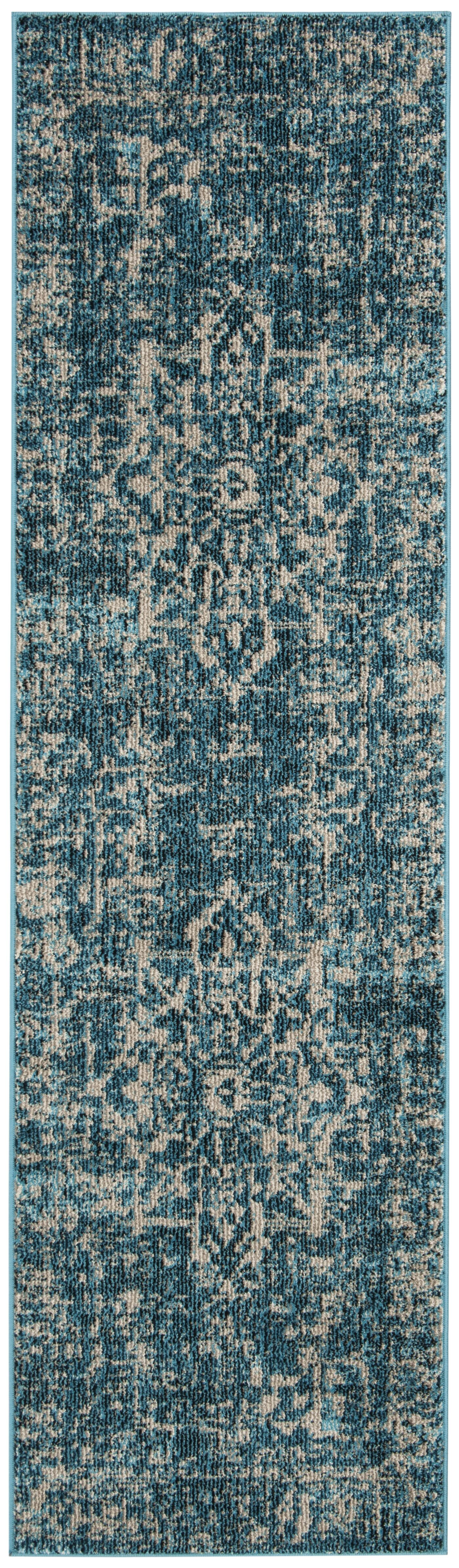 Grieve Turquoise/Ivory Area Rug Rug Size: Rectangle 9' x 12'