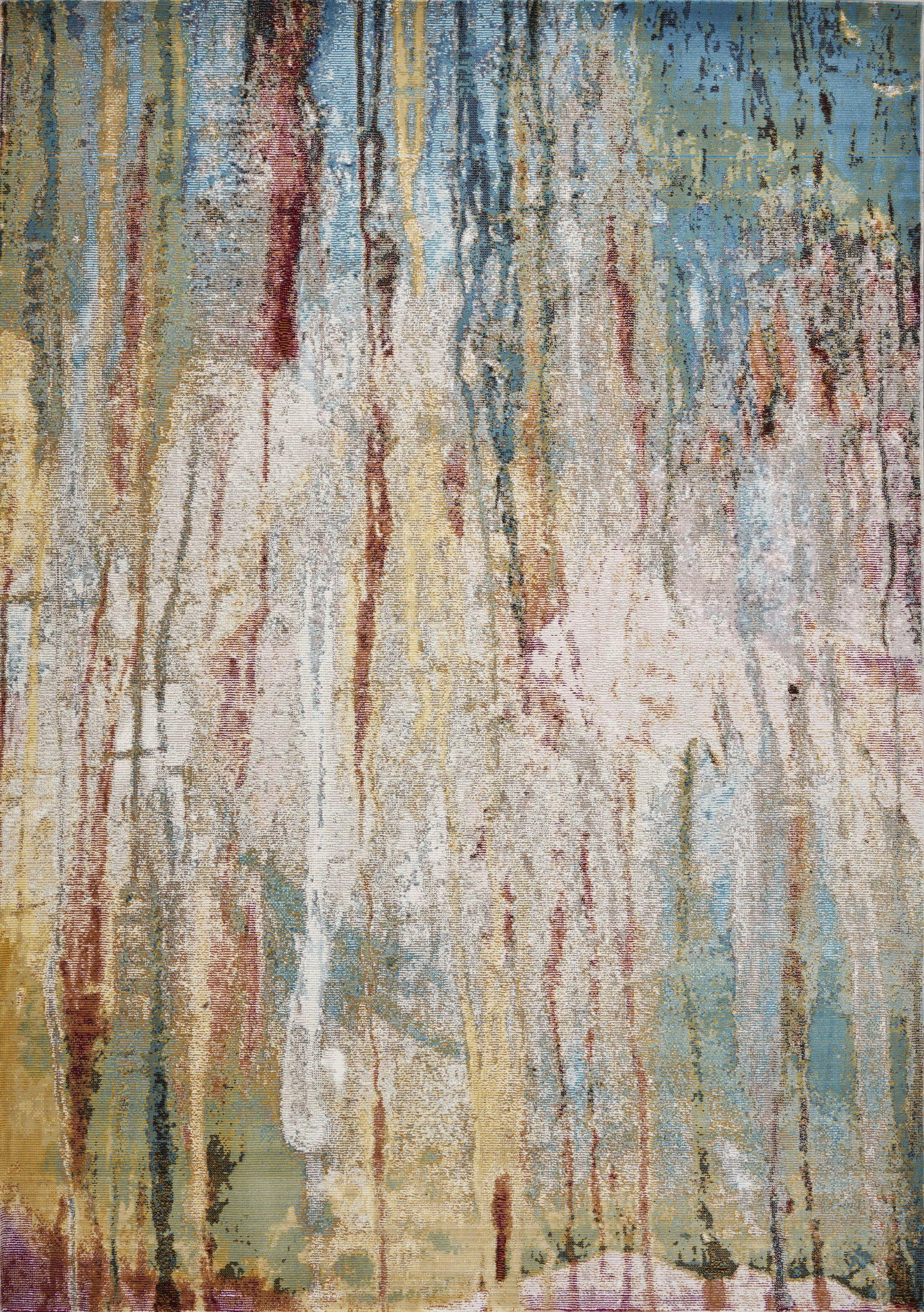 Malachy Ivory/Teal Area Rug Rug Size: Rectangle 9' x 11'9