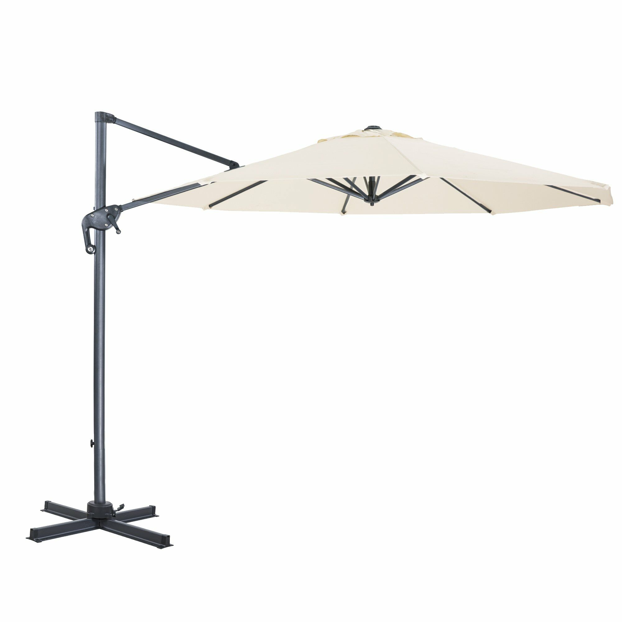 EmeraldCove Patio Offset 10' Cantilever Umbrella Fabric Color: Milk White