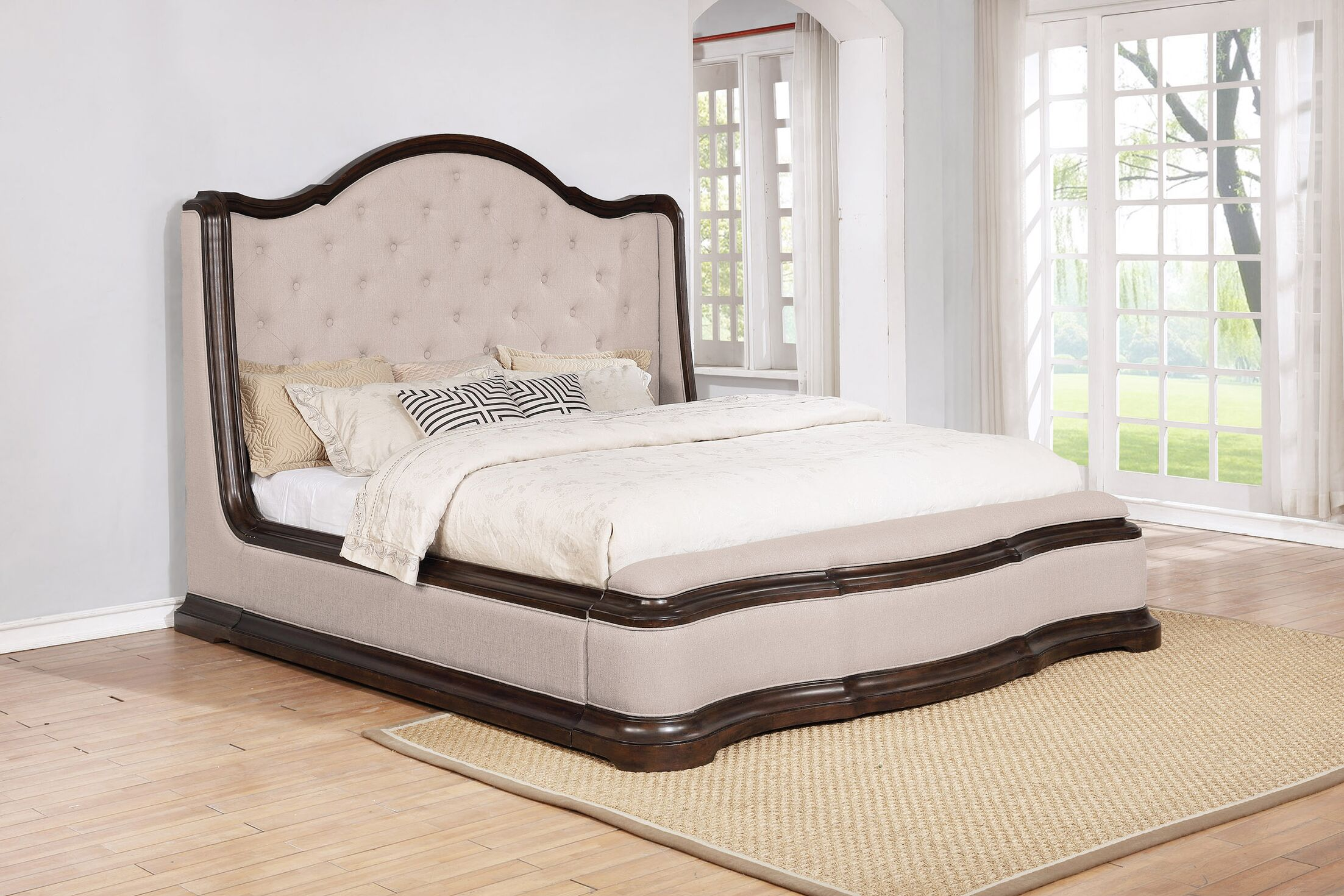 Aminah Upholstered Panel Bed Size: King