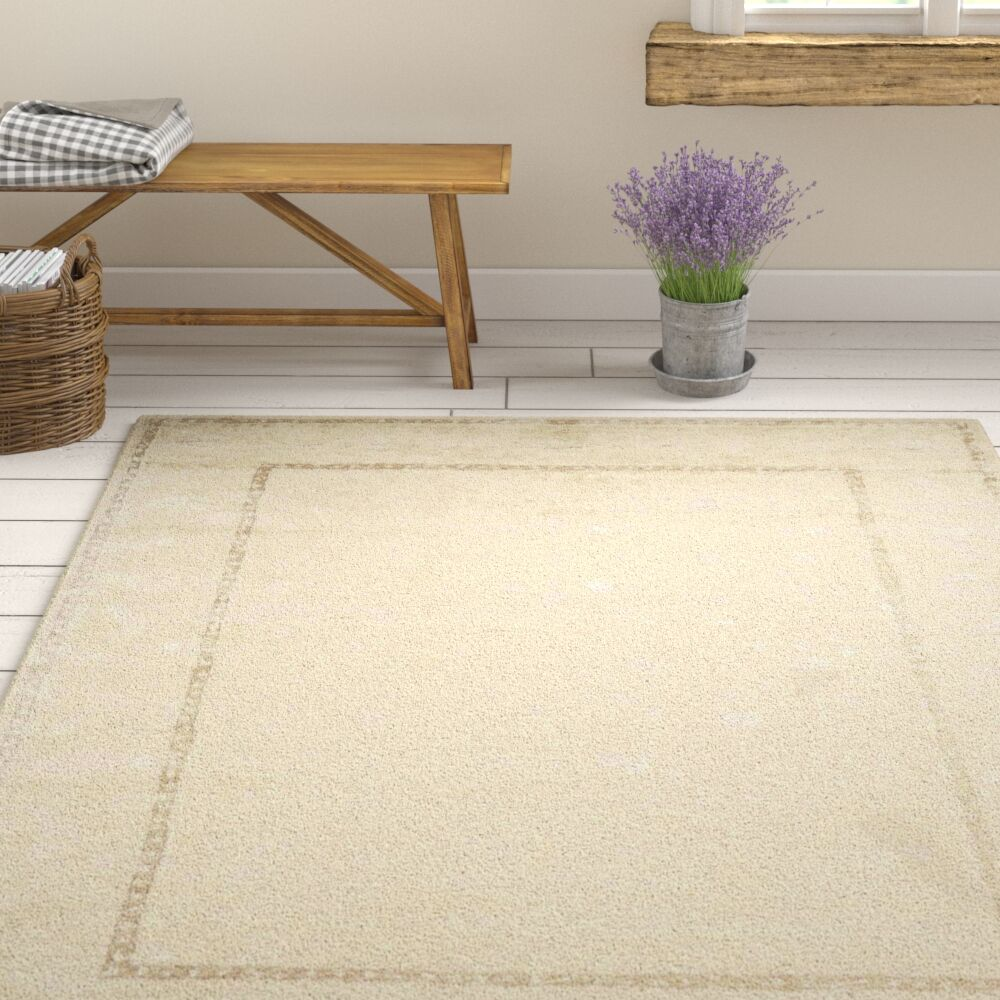 Deslauriers Ivory Area Rug Rug Size: Rectangle 9'6
