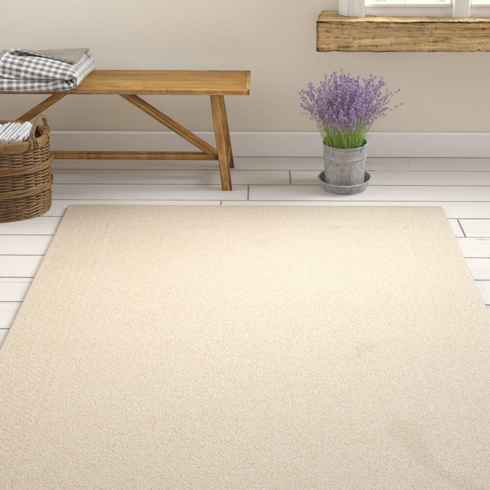 Xamiera Hand Tufted Wool Ivory Area Rug Rug Size: Rectangle 4' x 6'