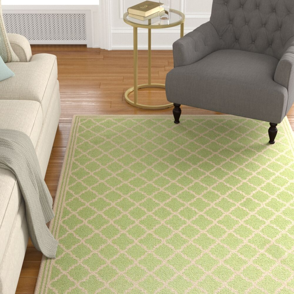 Sherell Olive/Cream Area Rug Rug Size: Rectangle 8' x 10'