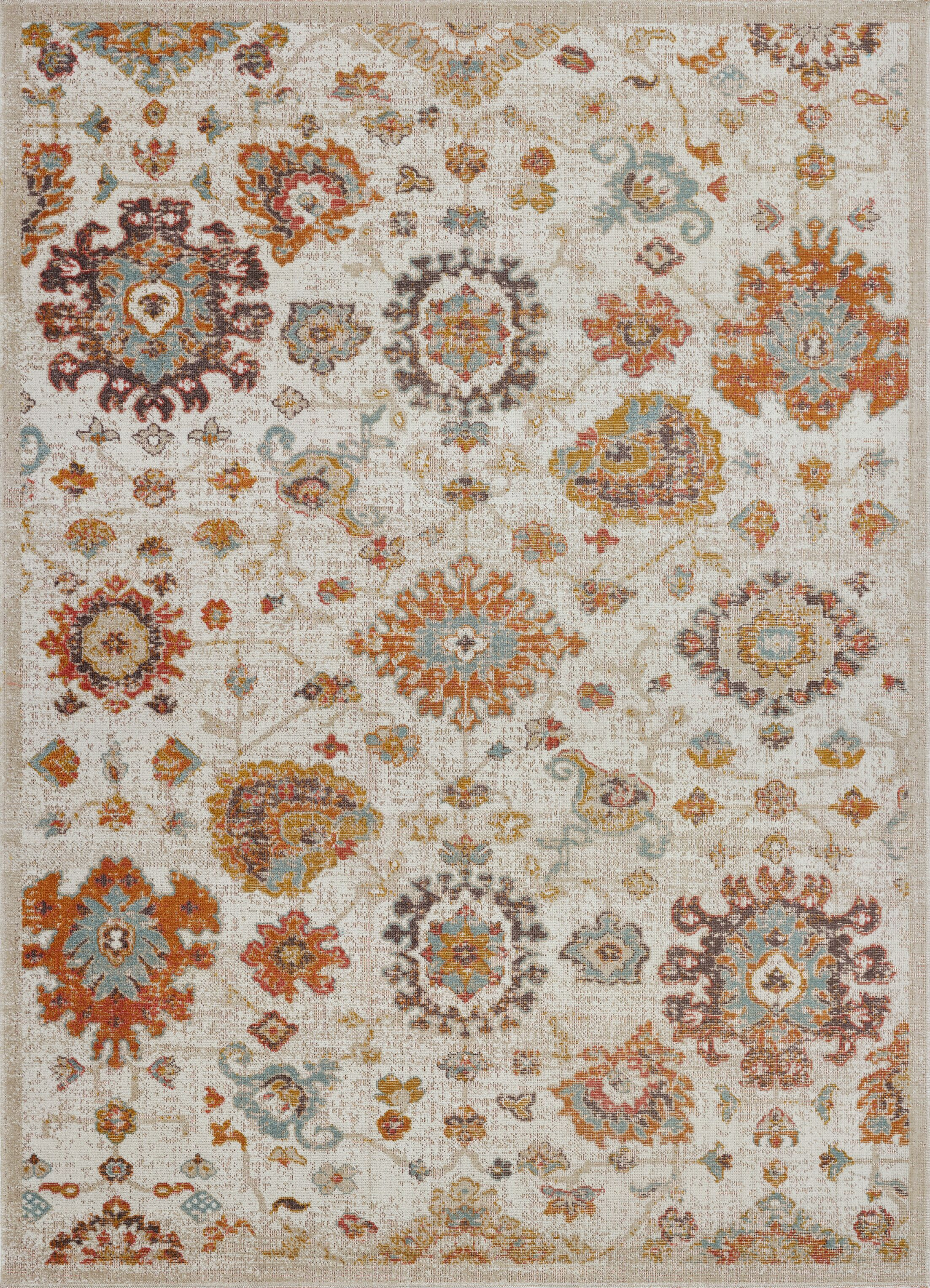 Jimena Marigold Ornamental Beige Indoor/Outdoor Area Rug Rug Size: Rectangle 5'2