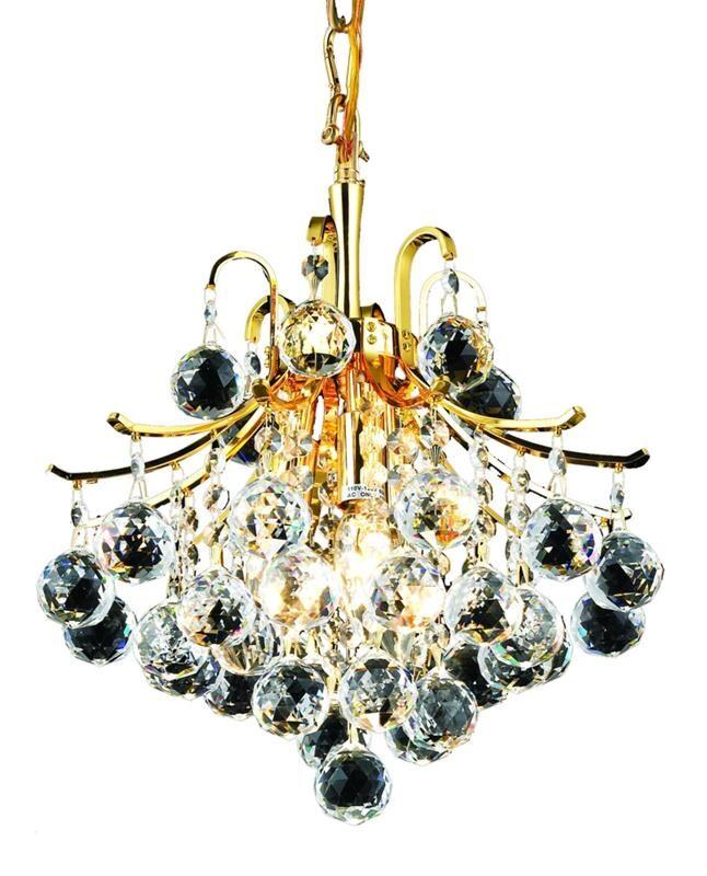 McAllen 3-Light Crystal Chandelier Finish: Gold